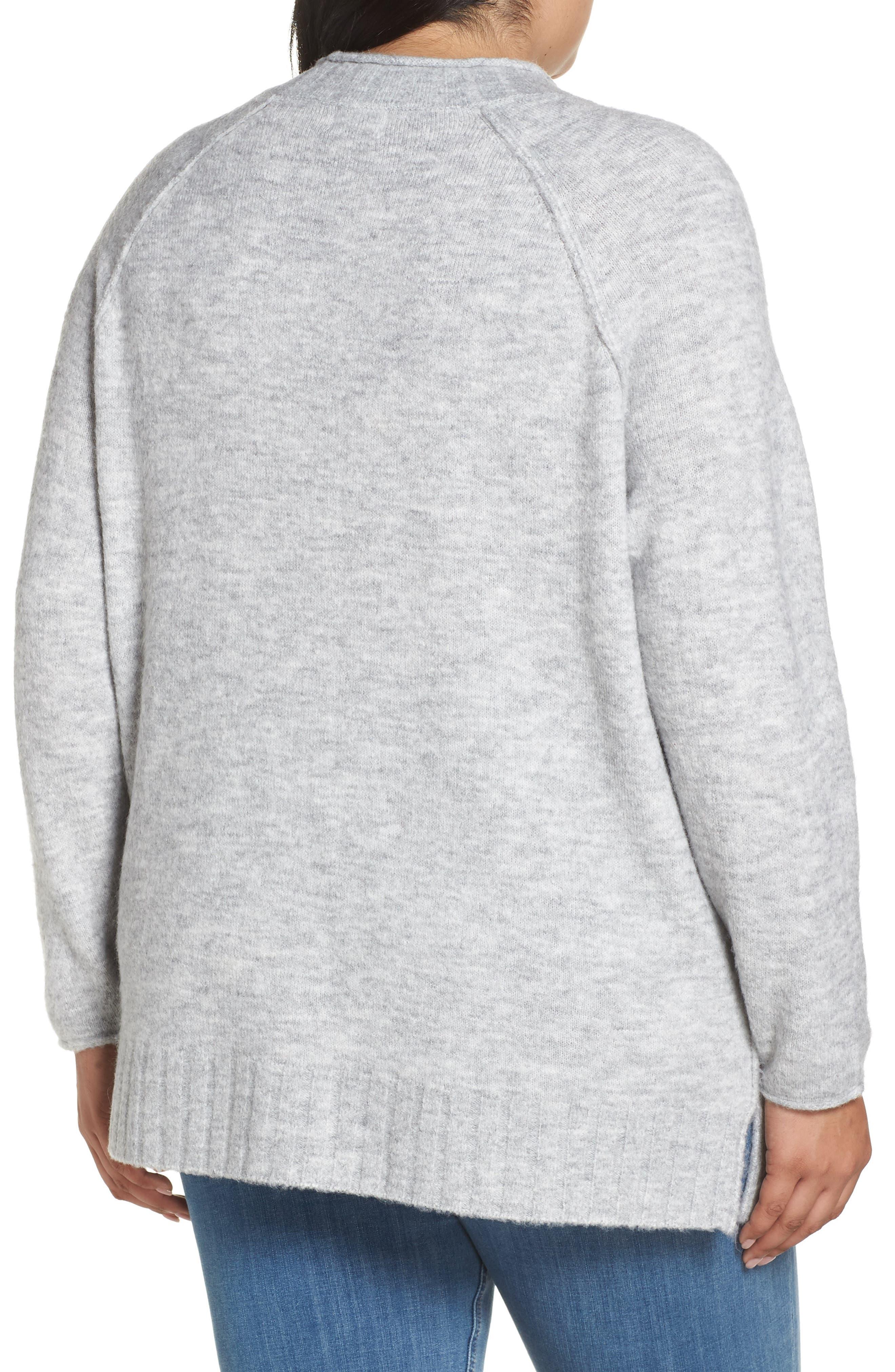 Cozy Crewneck Sweater,                             Alternate thumbnail 2, color,                             GREY HEATHER