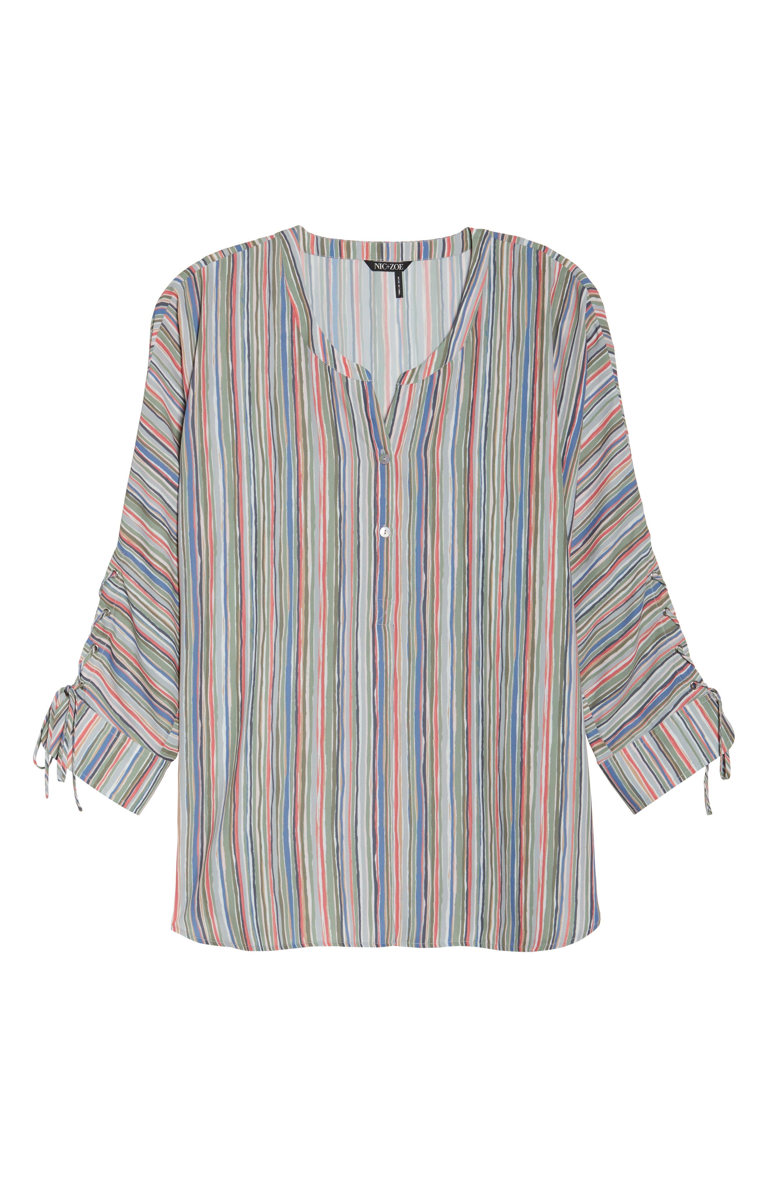 Cabana Tie Sleeve Top,                             Alternate thumbnail 6, color,                             609