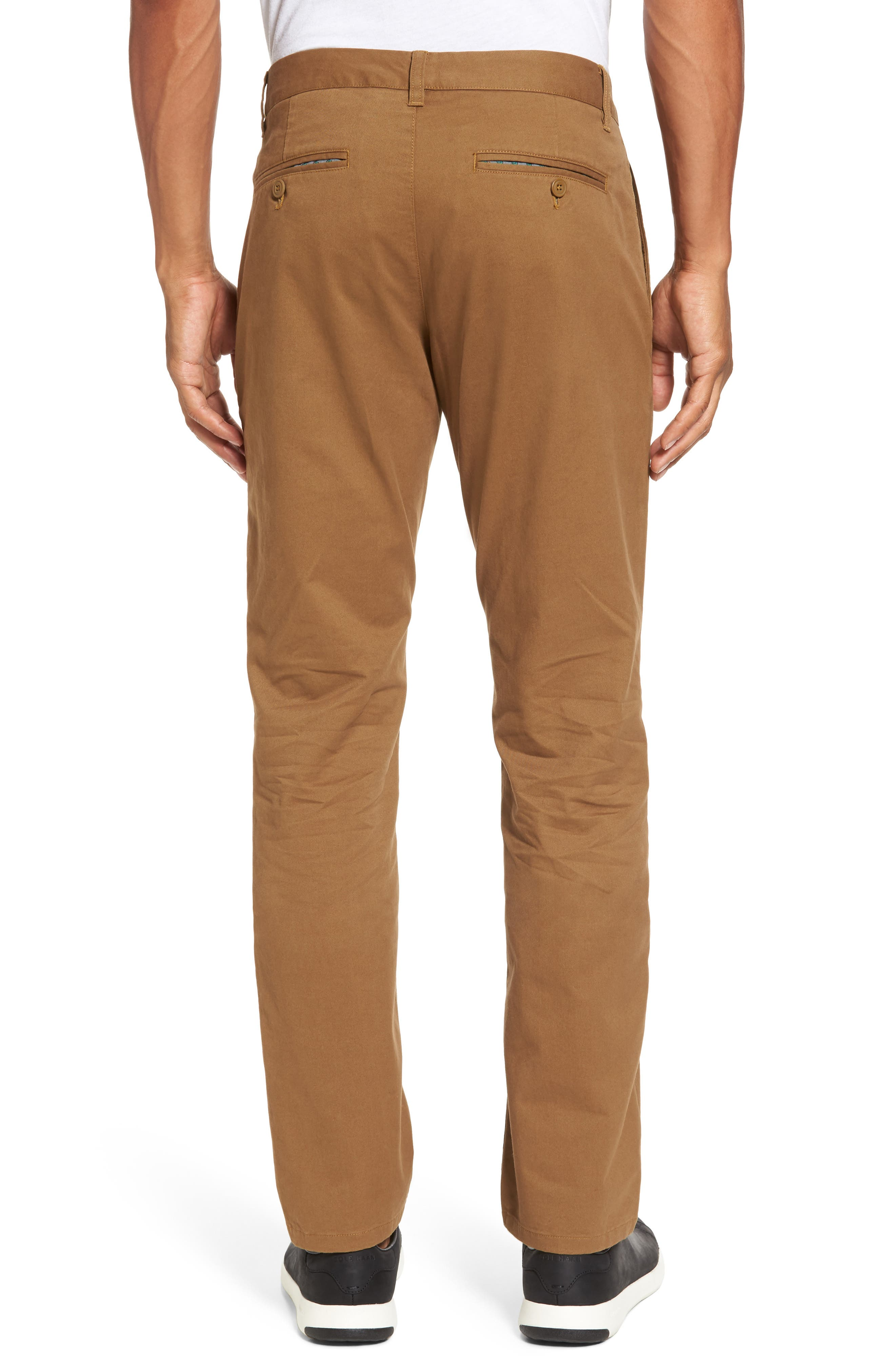 Tailored Fit Washed Stretch Cotton Chinos,                             Alternate thumbnail 40, color,