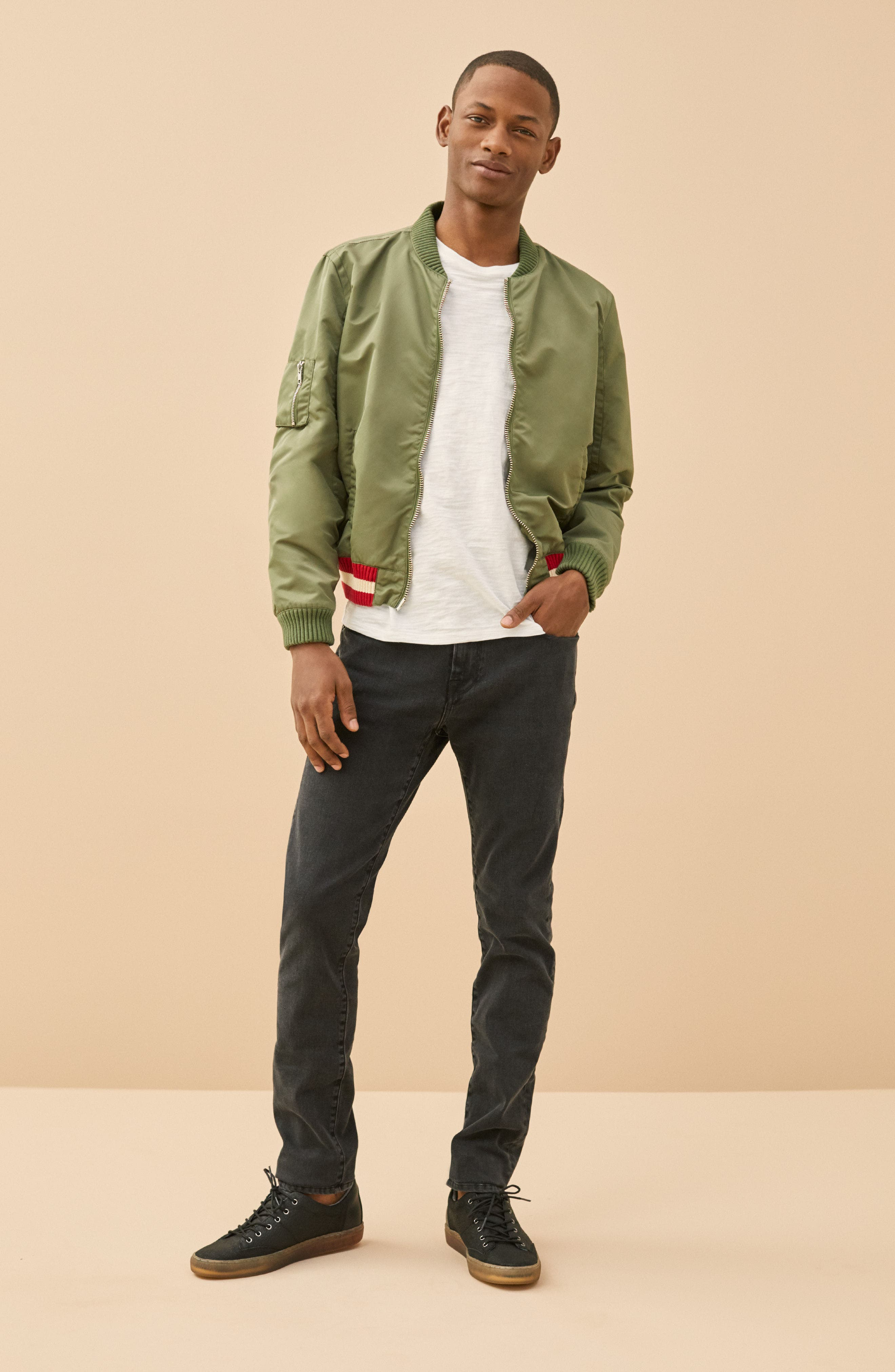 'L'Homme' Skinny Fit Jeans,                             Alternate thumbnail 8, color,                             FADE TO GREY