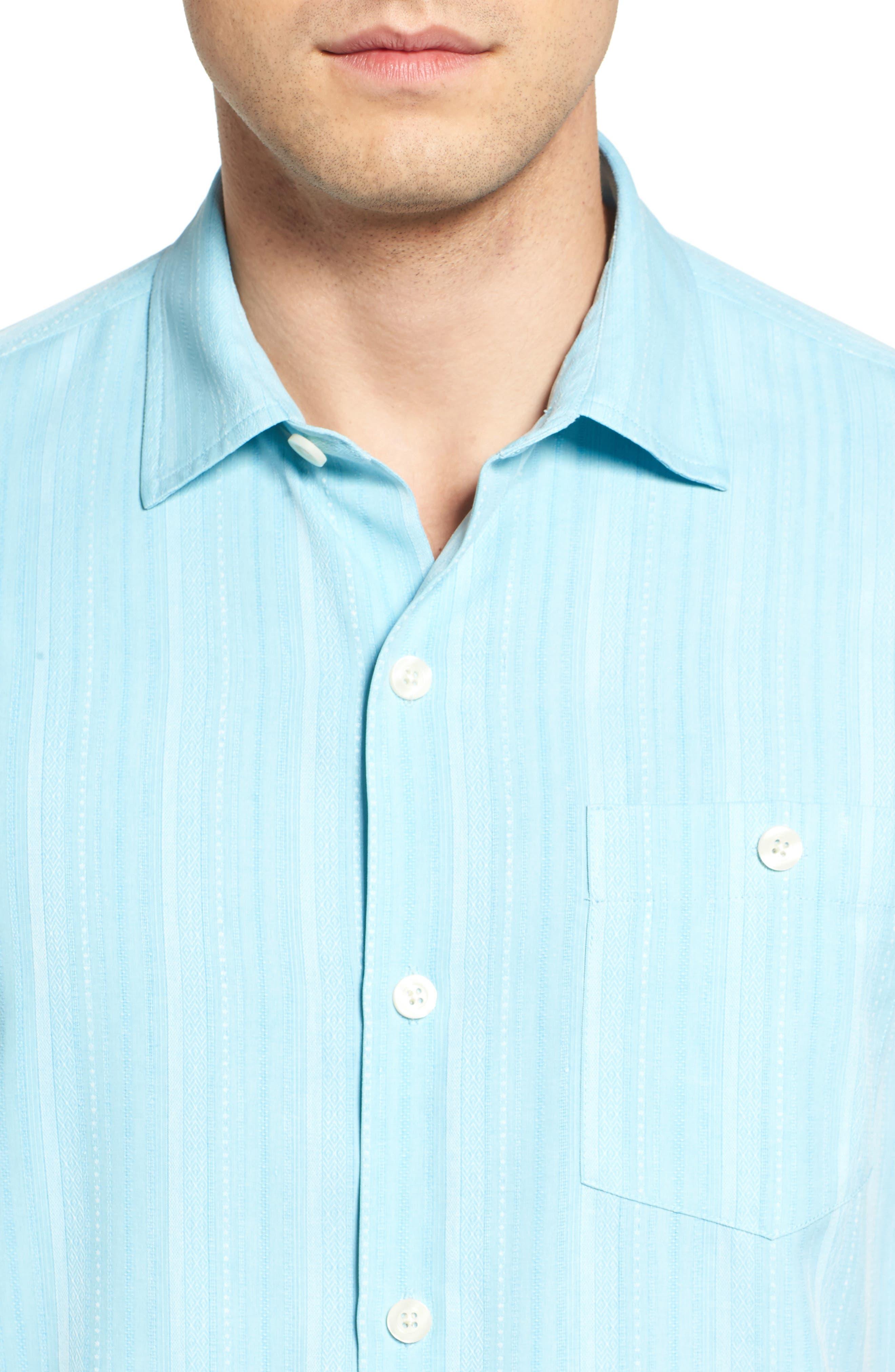 Zaldera Stripe Silk Camp Shirt,                             Alternate thumbnail 14, color,