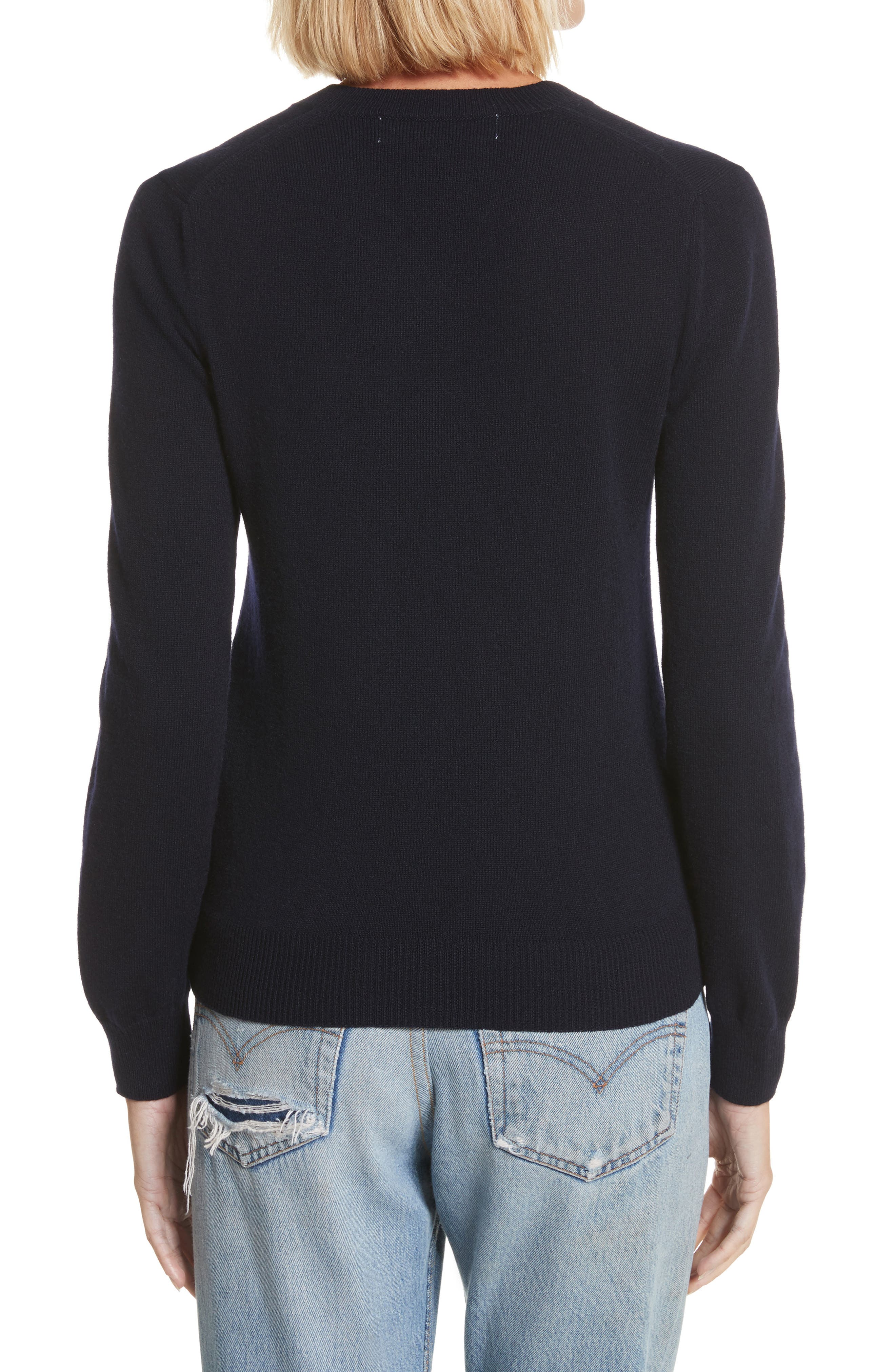 PLAY Double Heart Wool Sweater,                             Alternate thumbnail 2, color,