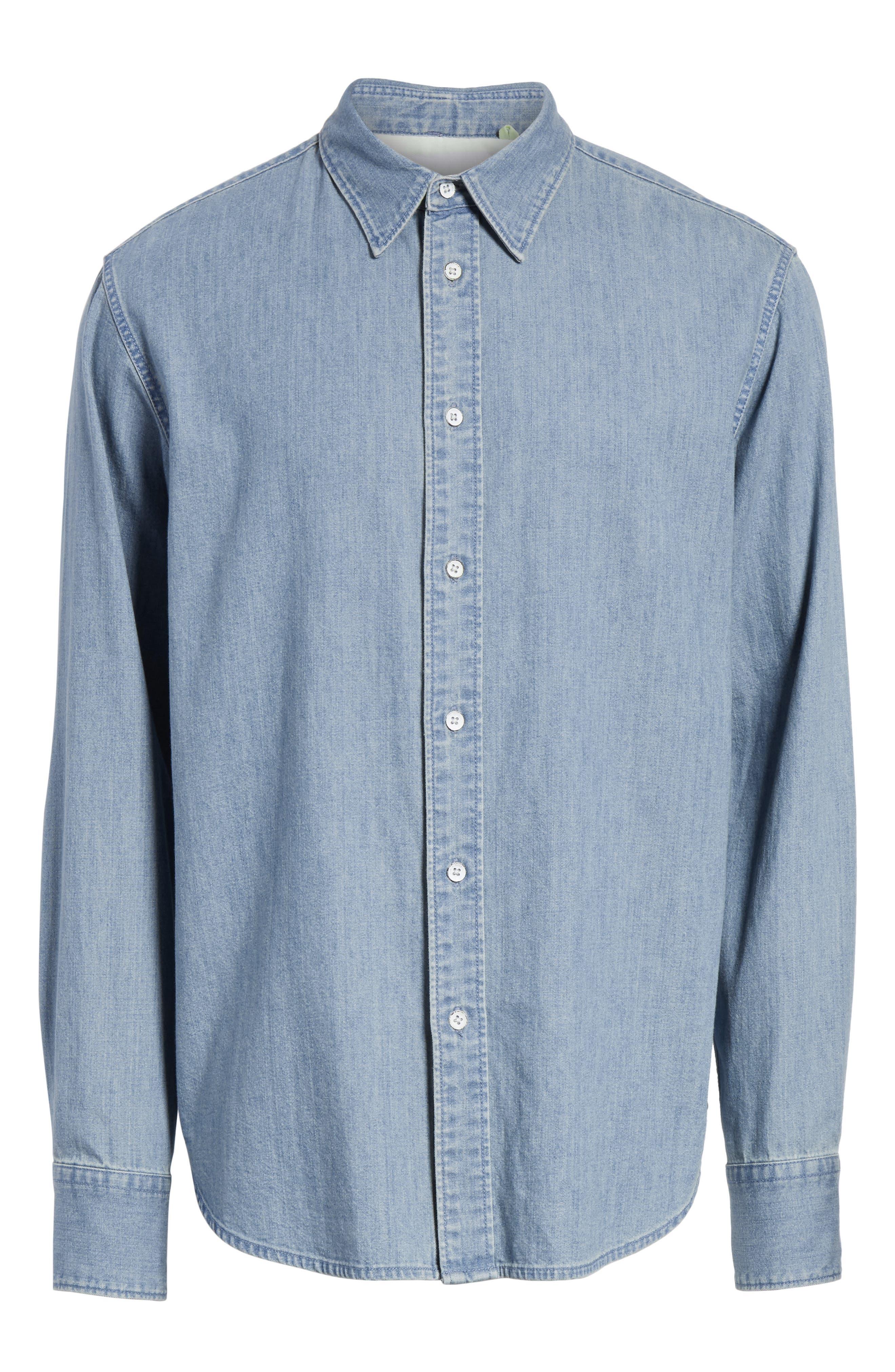 Fit 3 Chambray Denim Shirt,                             Alternate thumbnail 6, color,