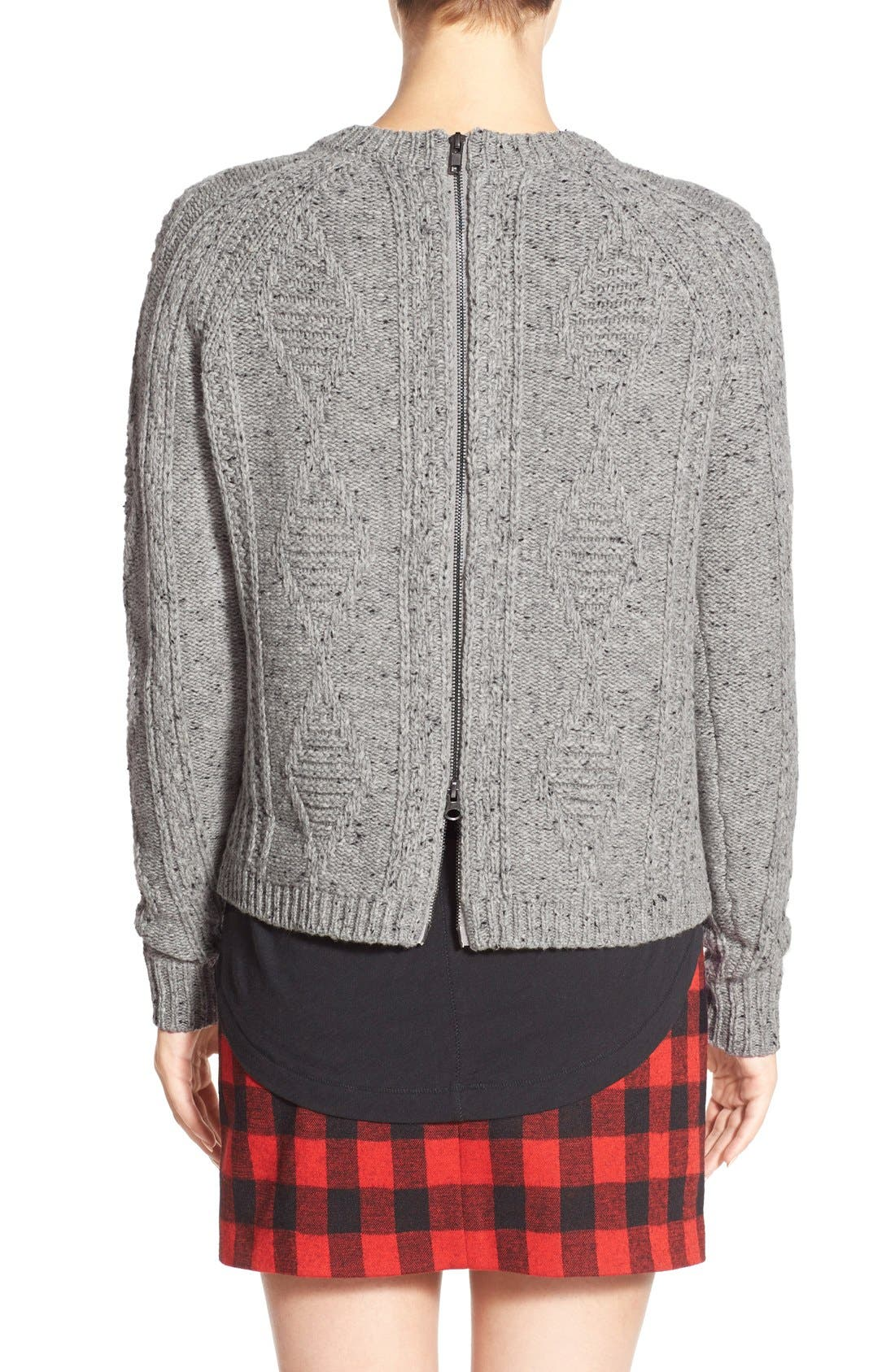 MADEWELL,                             'Palisade' Back Zip Sweater,                             Alternate thumbnail 4, color,                             020