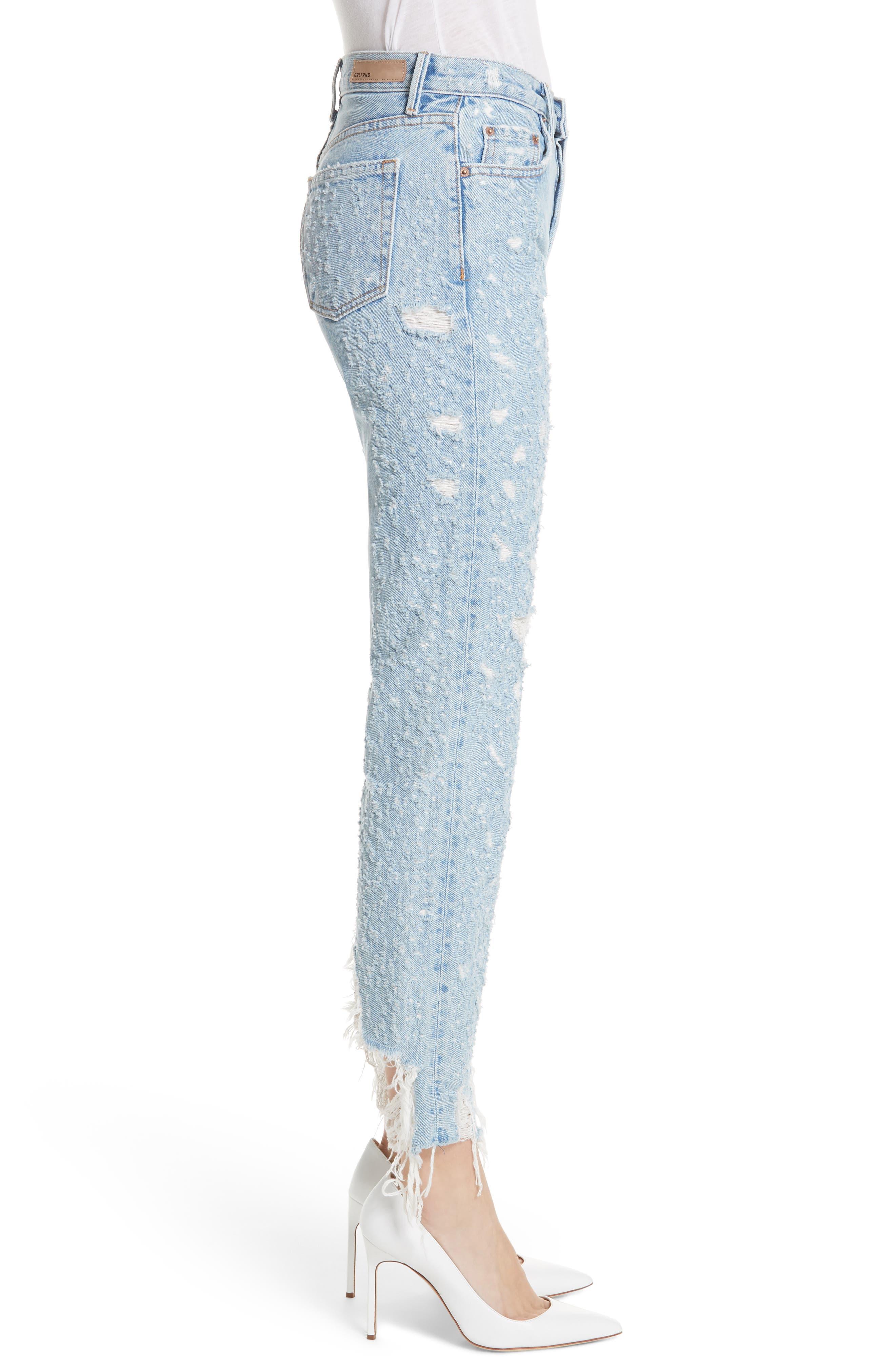 Helena Rigid High Waist Straight Jeans,                             Alternate thumbnail 3, color,                             BURN OUT