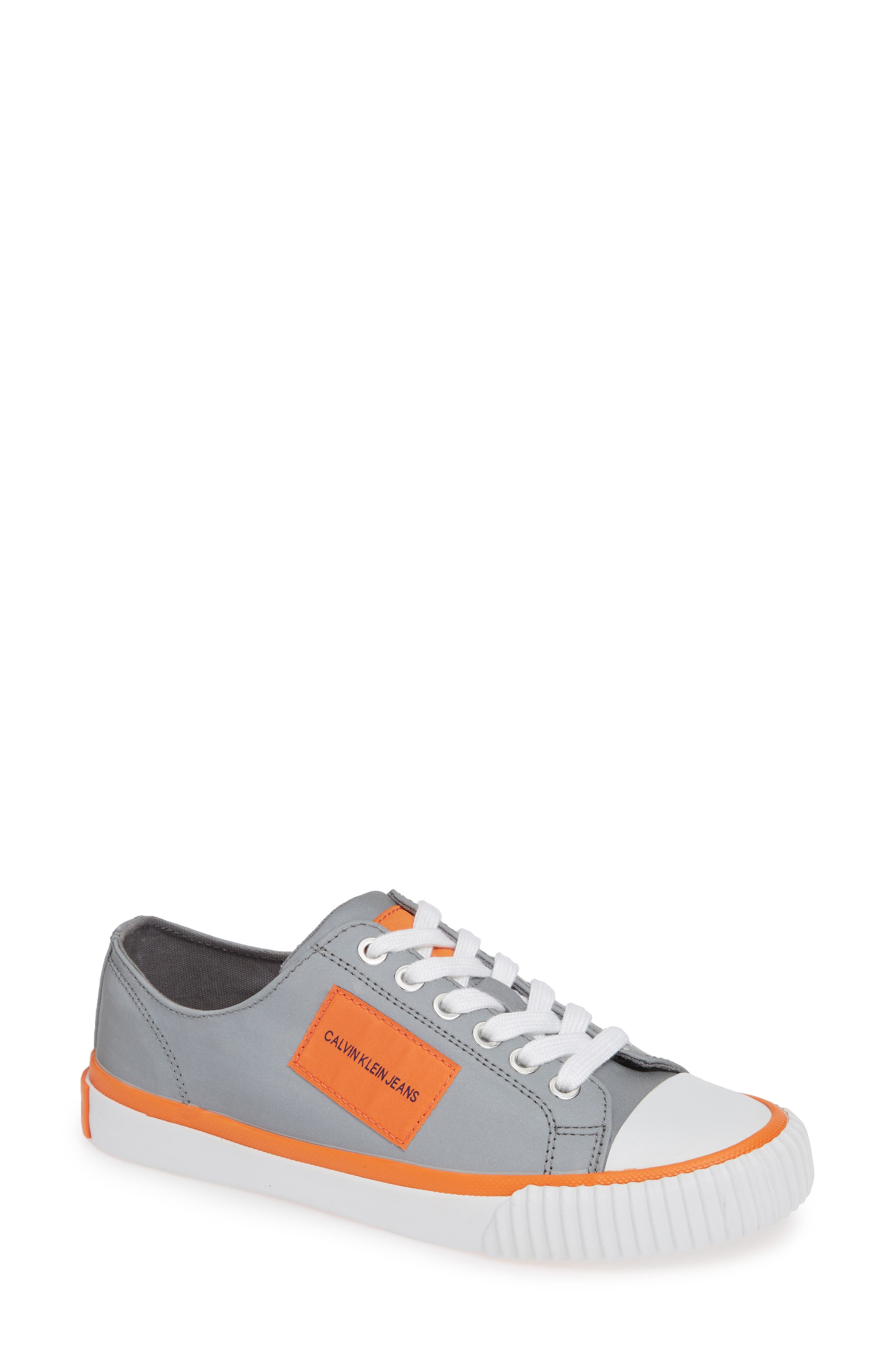Ivory Lace-Up Sneaker,                             Main thumbnail 1, color,                             SILVER