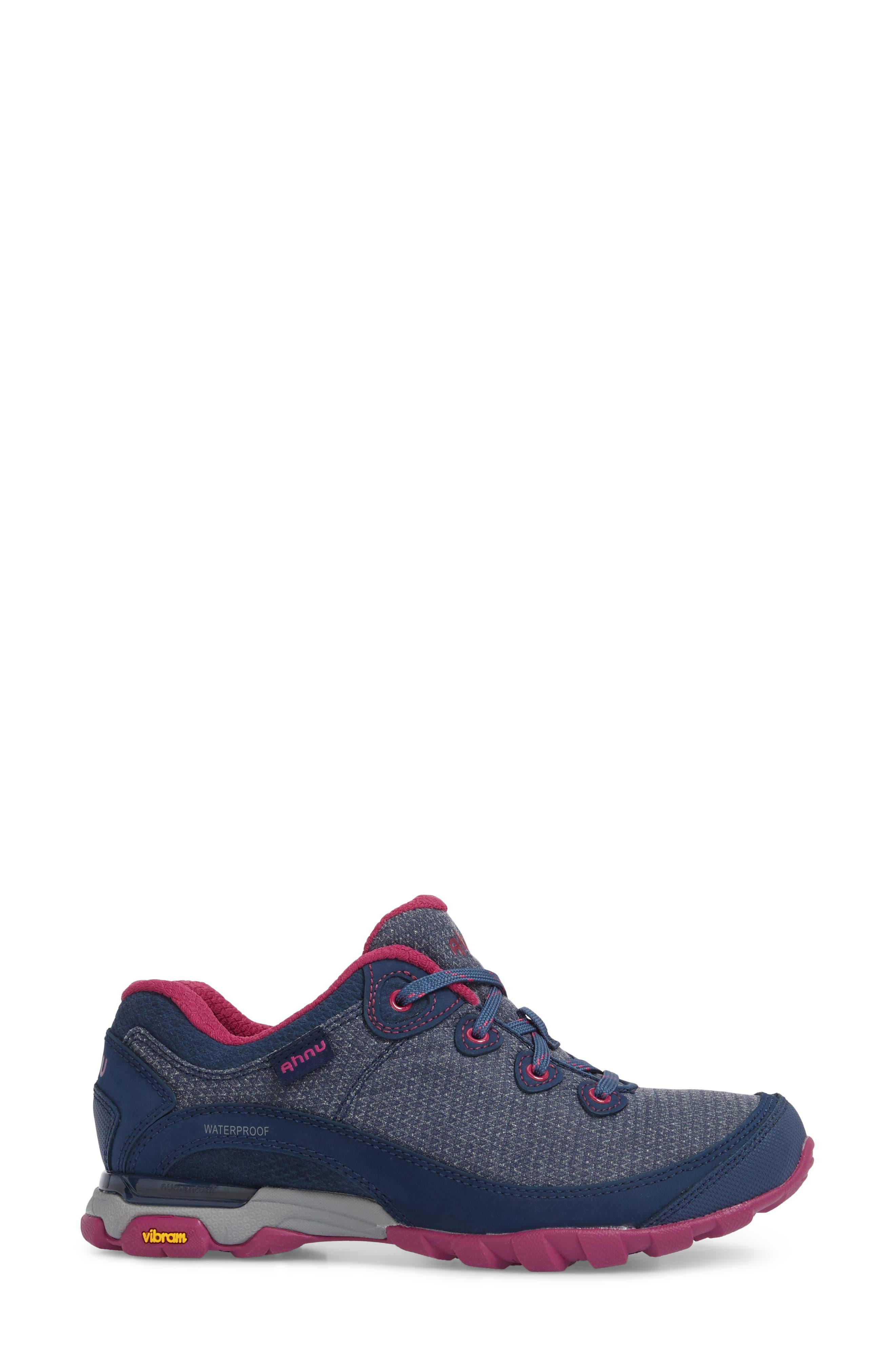 Ahnu by Teva Sugarpine II Waterproof Hiking Sneaker,                             Alternate thumbnail 3, color,                             INSIGNIA BLUE