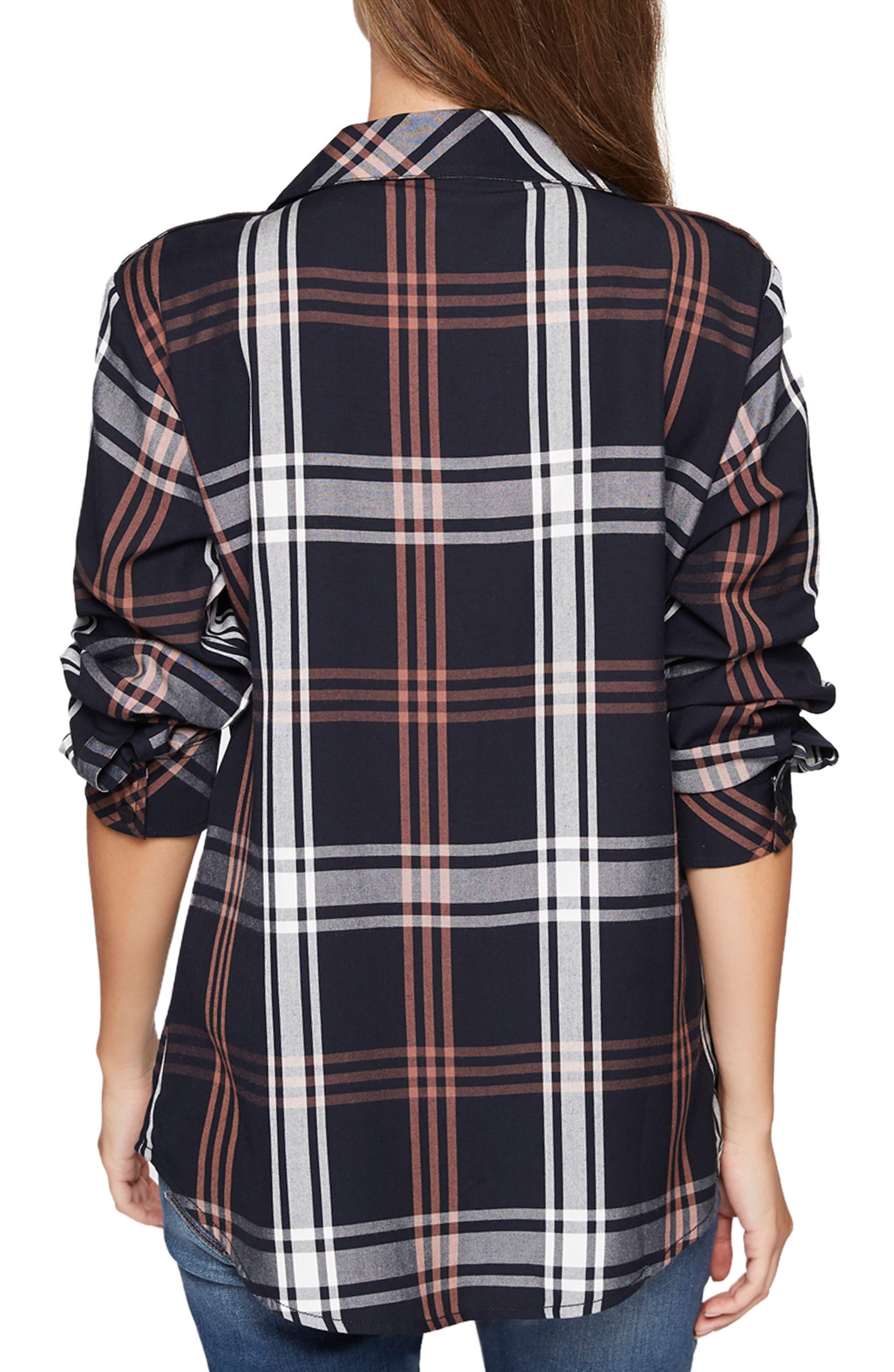 Plaid Boyfriend Shirt,                             Alternate thumbnail 11, color,