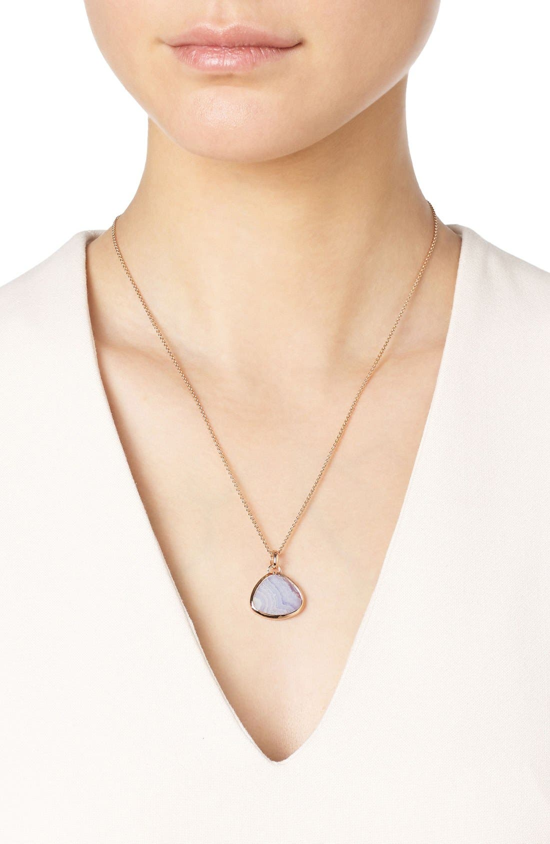 Siren Semiprecious Stone Pendant,                             Alternate thumbnail 2, color,