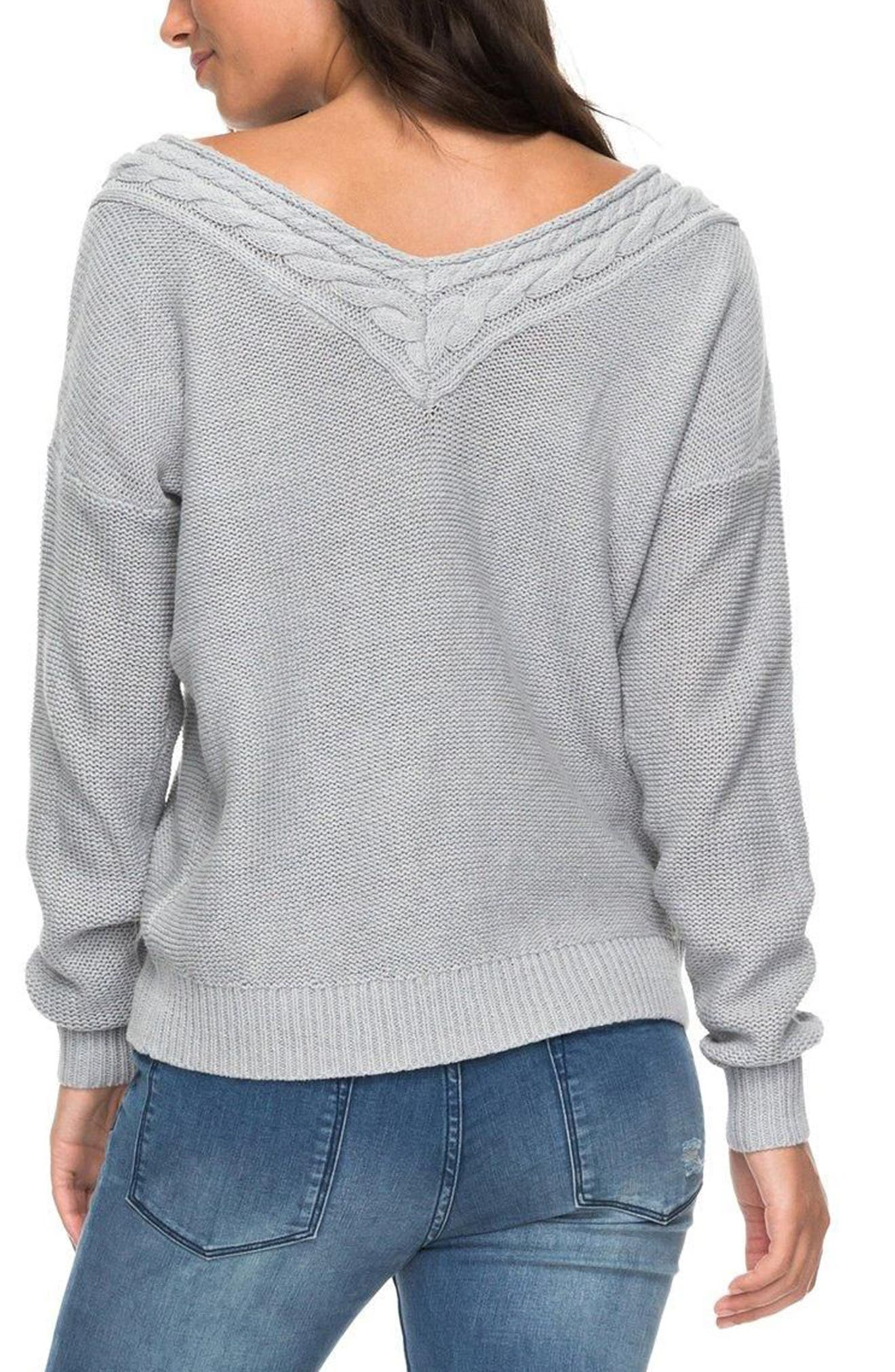 ROXY,                             Choose to Shine Sweater,                             Alternate thumbnail 2, color,                             037