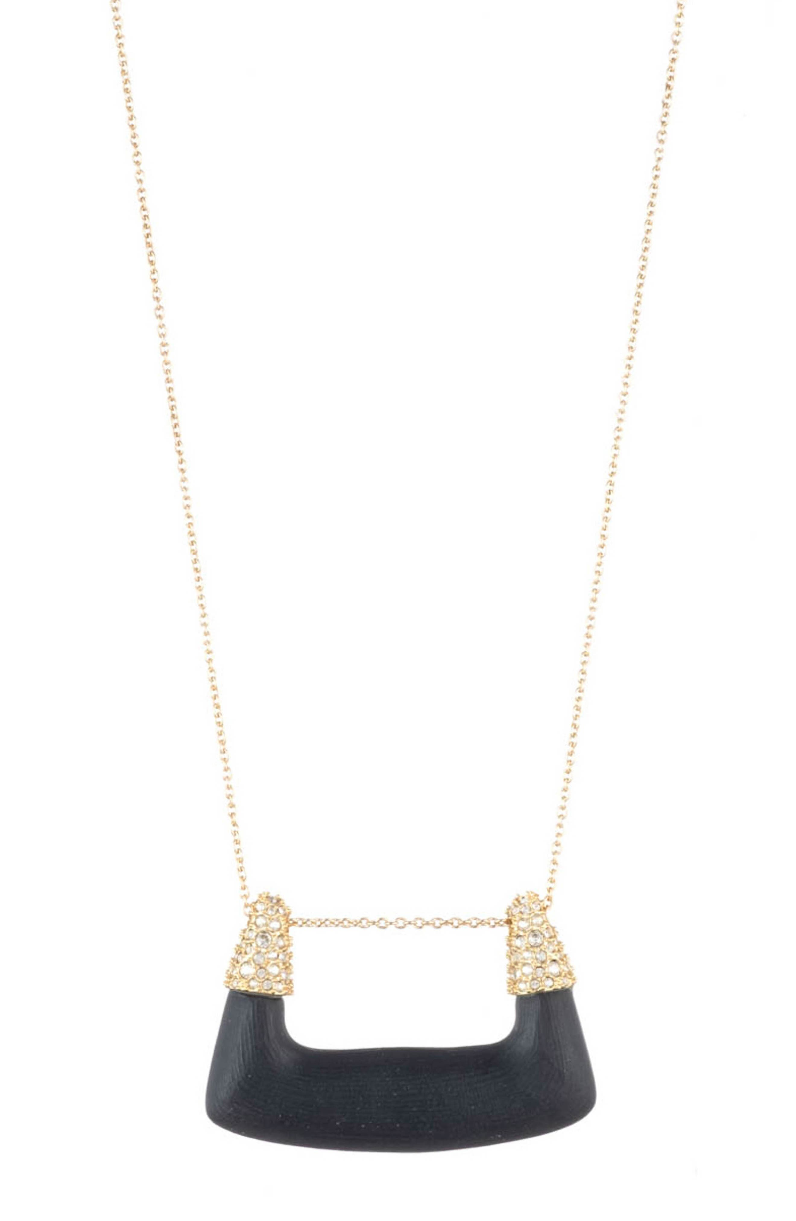 Alexis Bittar  ESSENTIALS CRYSTAL ENCRUSTED PENDANT NECKLACE