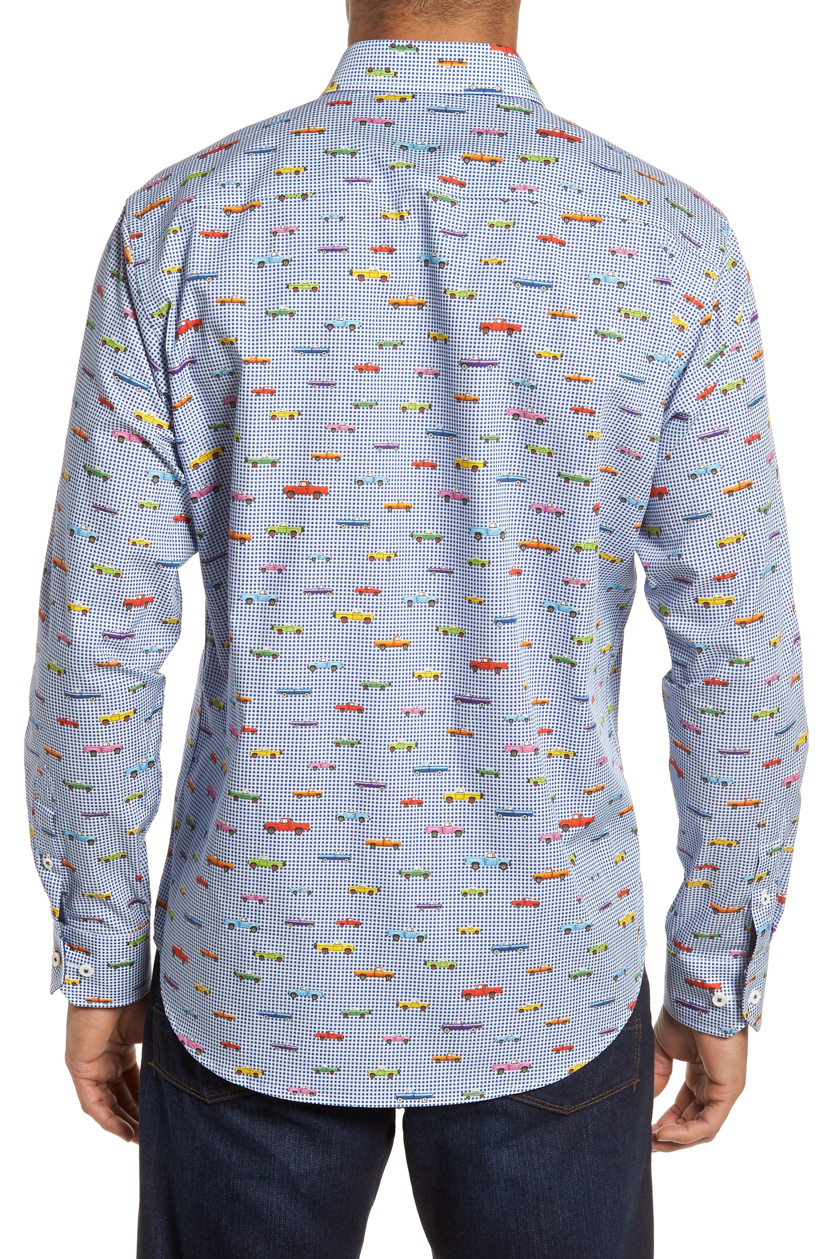 Classic Fit Pickup Truck Sport Shirt,                             Alternate thumbnail 2, color,                             ORCHID