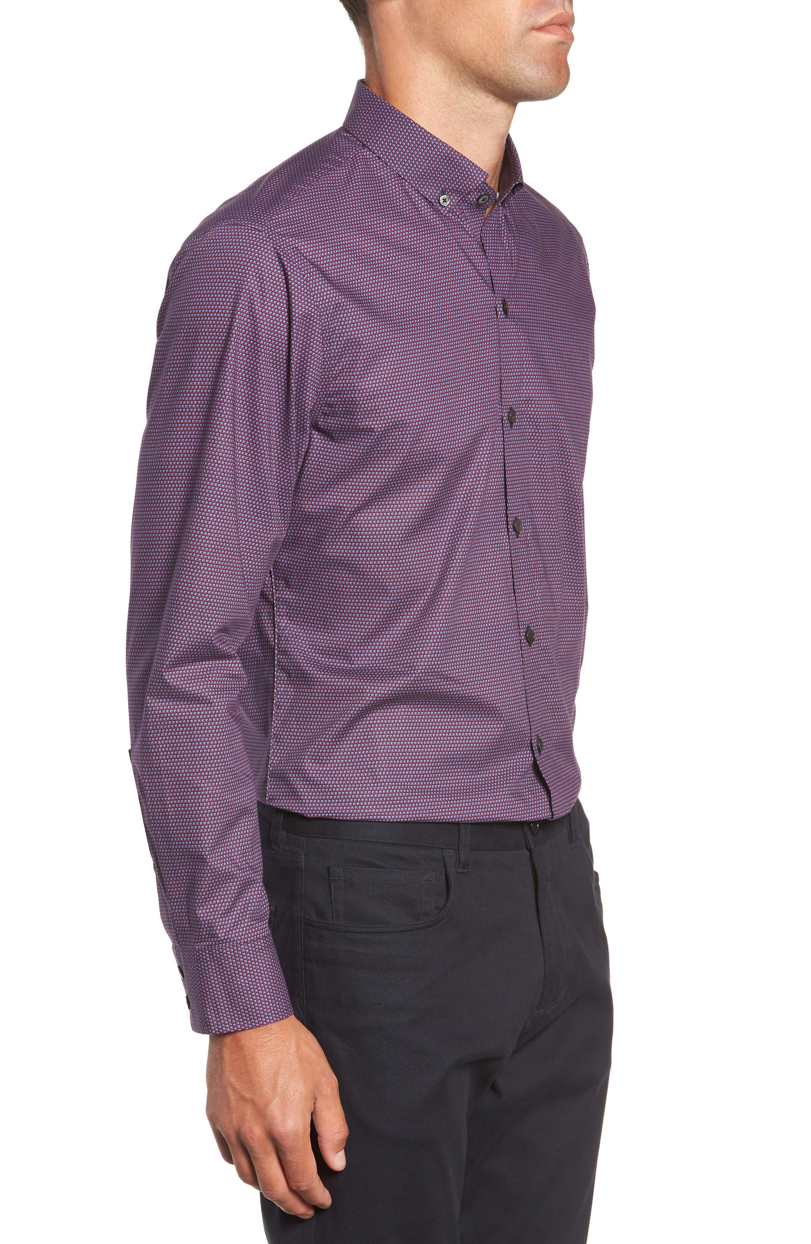 Samir Regular Fit Print Sport Shirt,                             Alternate thumbnail 4, color,                             RED