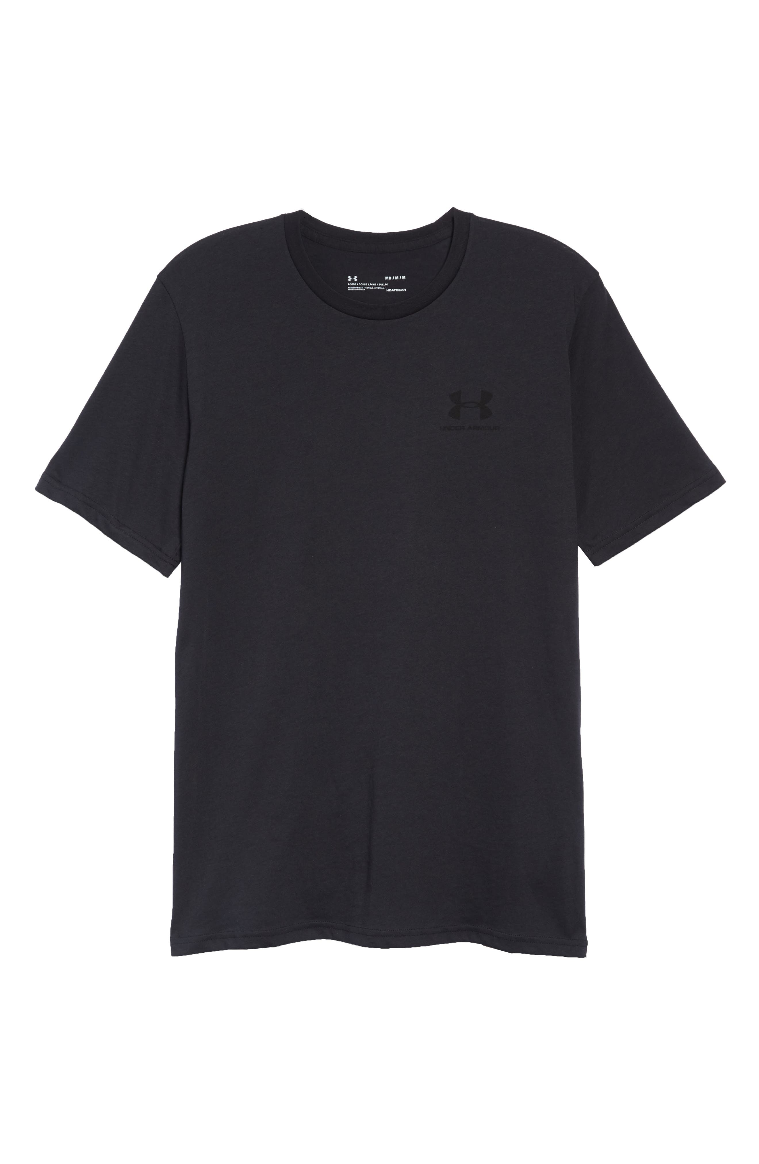 Sportstyle Loose Fit T-Shirt,                             Alternate thumbnail 6, color,                             BLACK