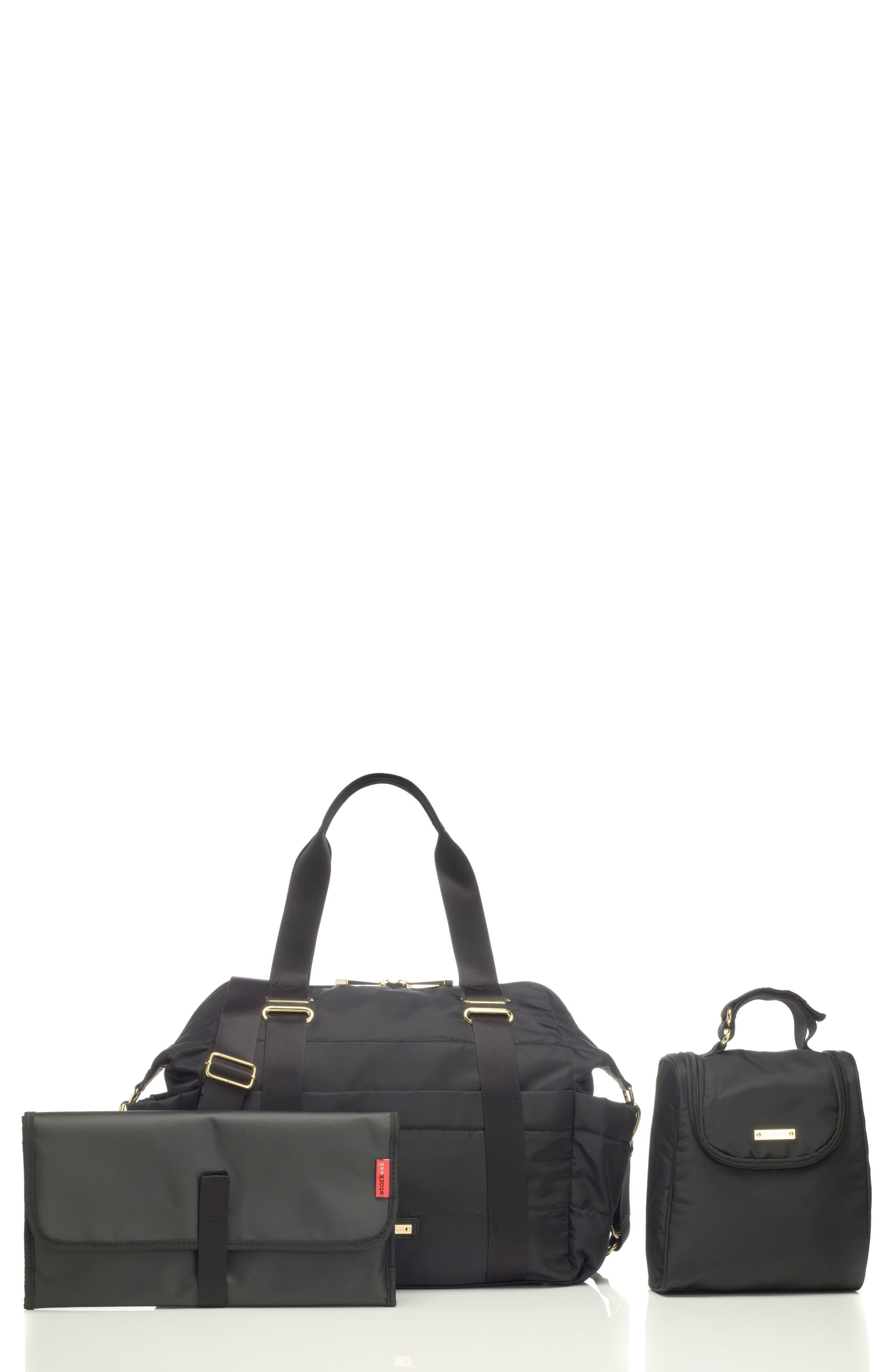 'Sandy' Diaper Bag,                             Main thumbnail 1, color,                             BLACK