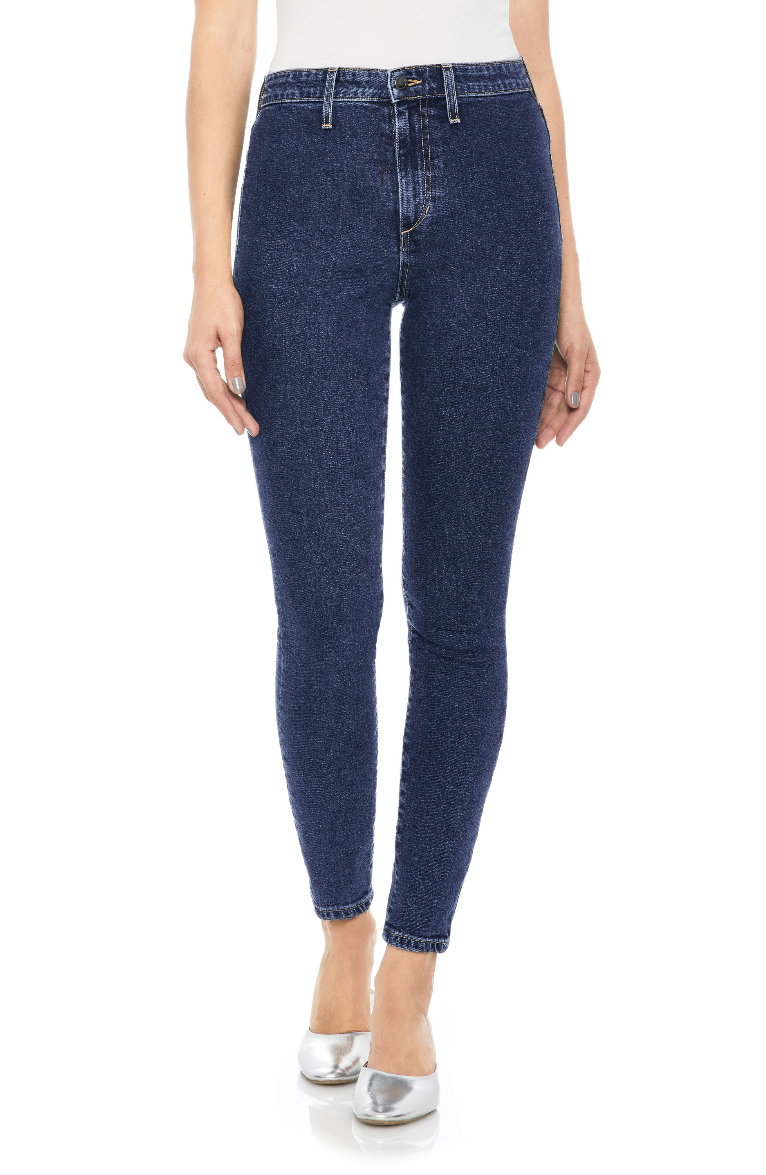 Charlie High Waist Ankle Skinny Jeans,                             Main thumbnail 1, color,                             400