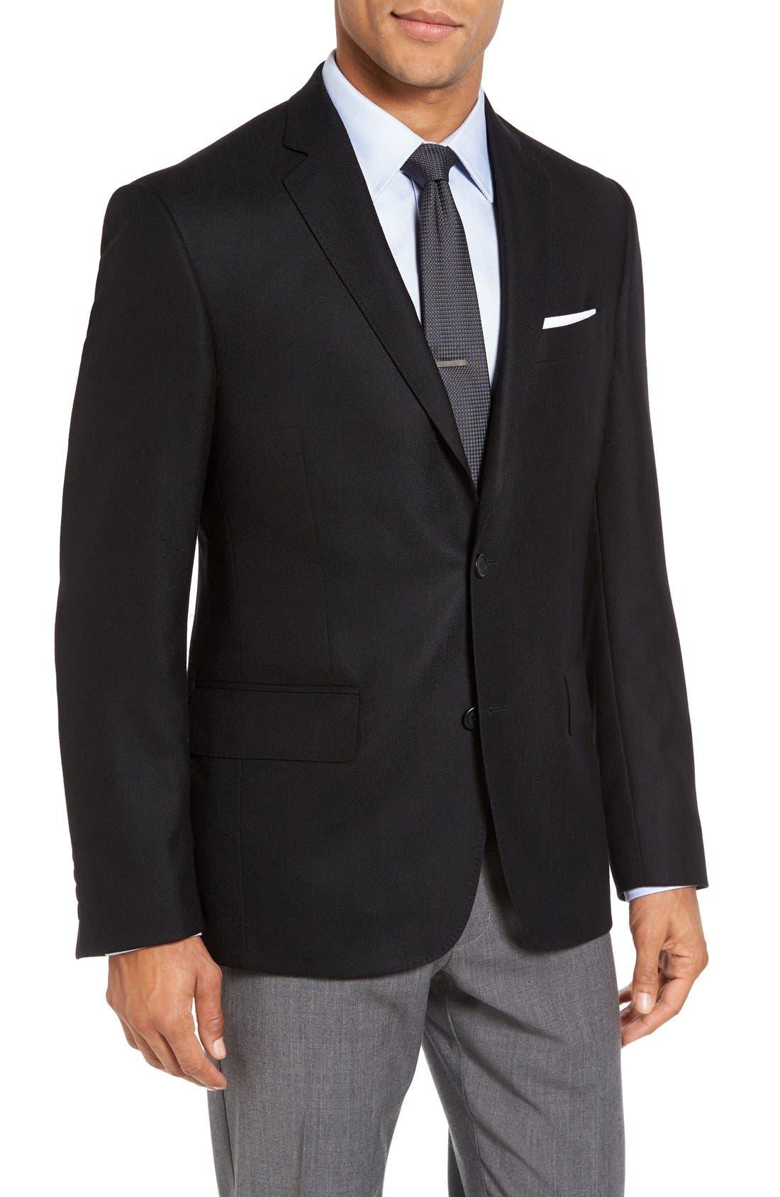 Classic Fit Wool & Cashmere Blazer,                             Main thumbnail 1, color,                             001