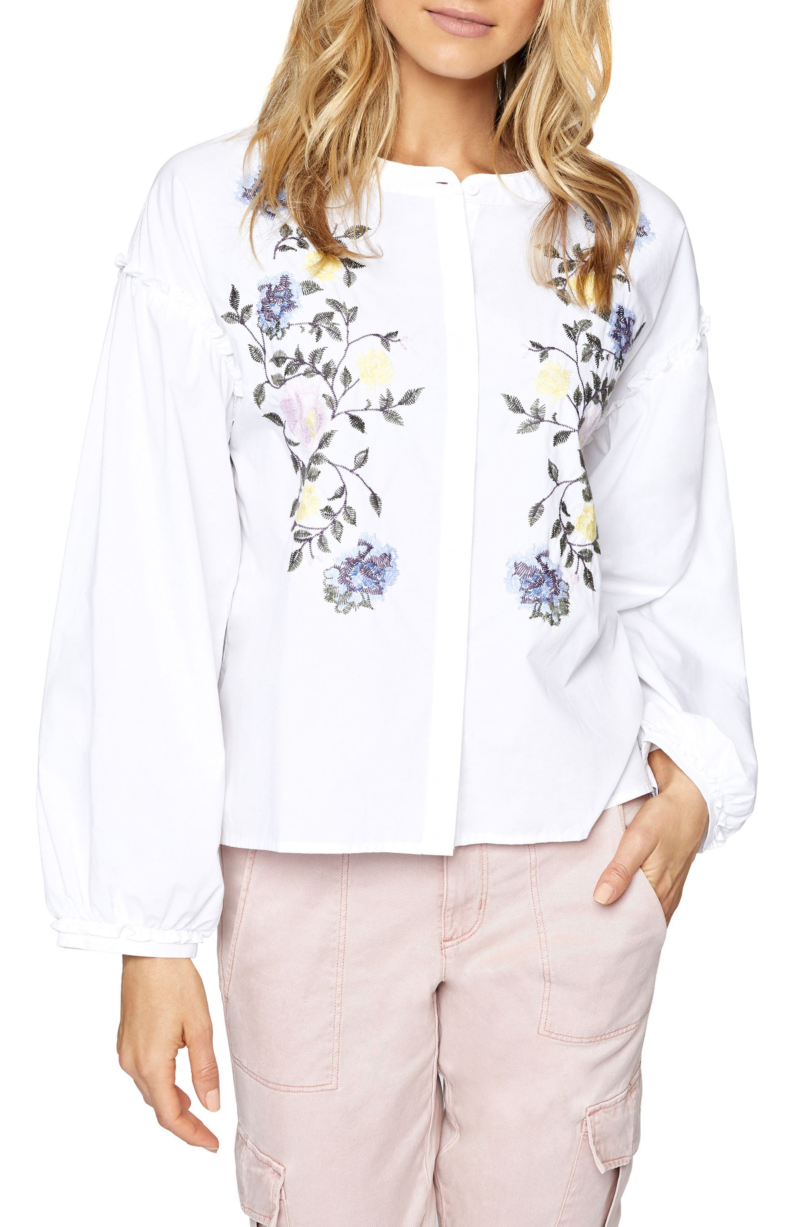 Embroidered Spring Danni Top,                             Main thumbnail 1, color,                             114