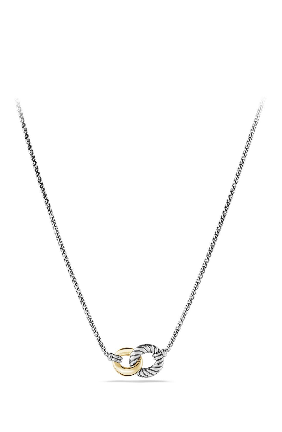 'Belmont' Curb Link Necklace with 18K Gold,                         Main,                         color, TWO TONE