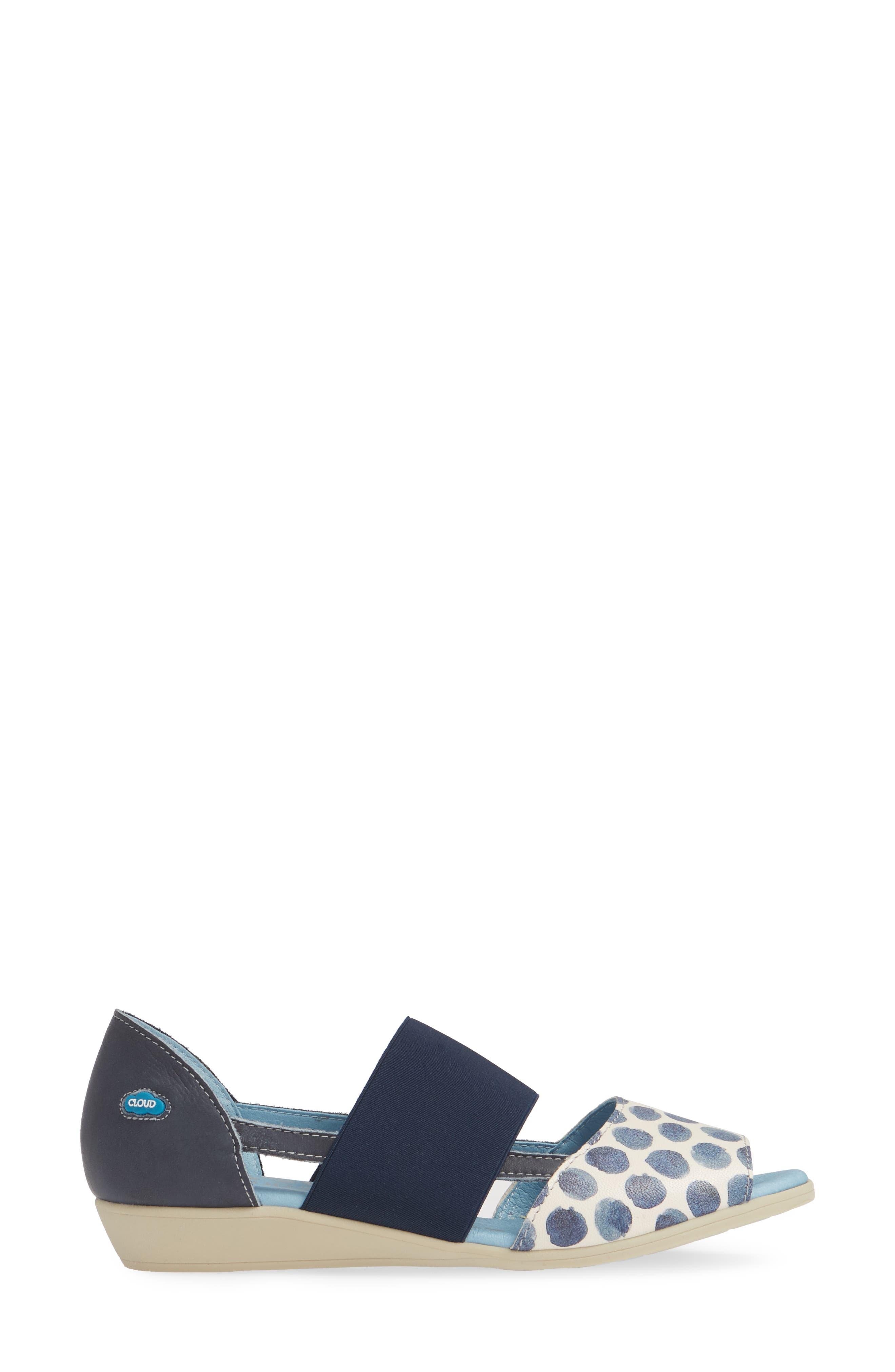 CLOUD,                             'Canary' Skimmer Sandal,                             Alternate thumbnail 3, color,                             TUPAI BLUE LEATHER