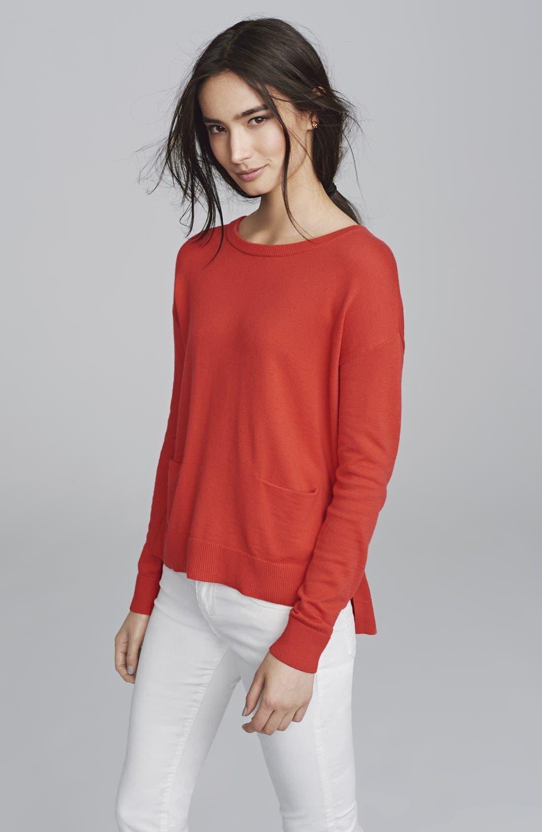 Drop Shoulder Pocket Sweater,                             Alternate thumbnail 3, color,                             440