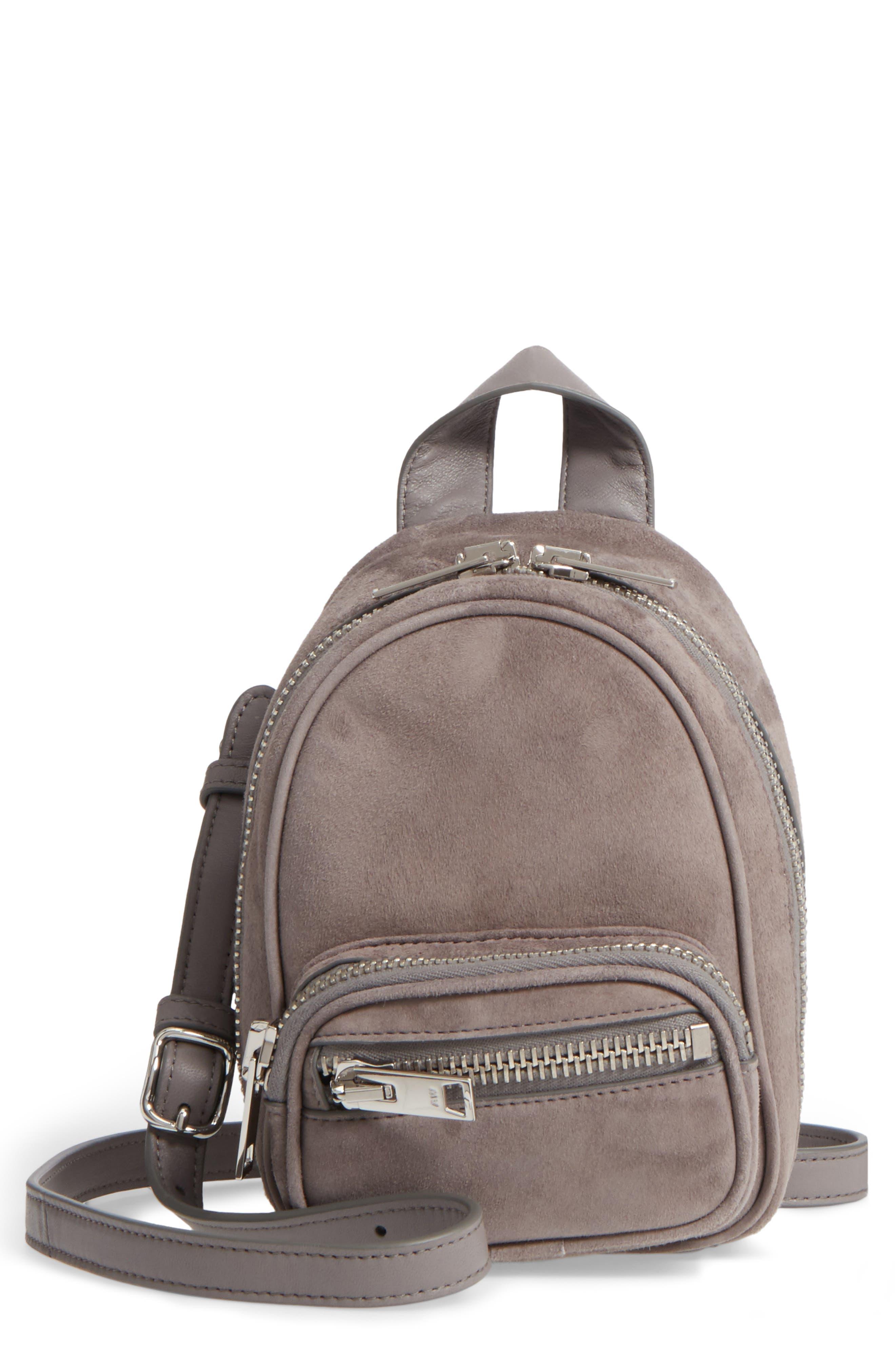 Mini Attica Leather Crossbody Backpack,                             Main thumbnail 1, color,                             080