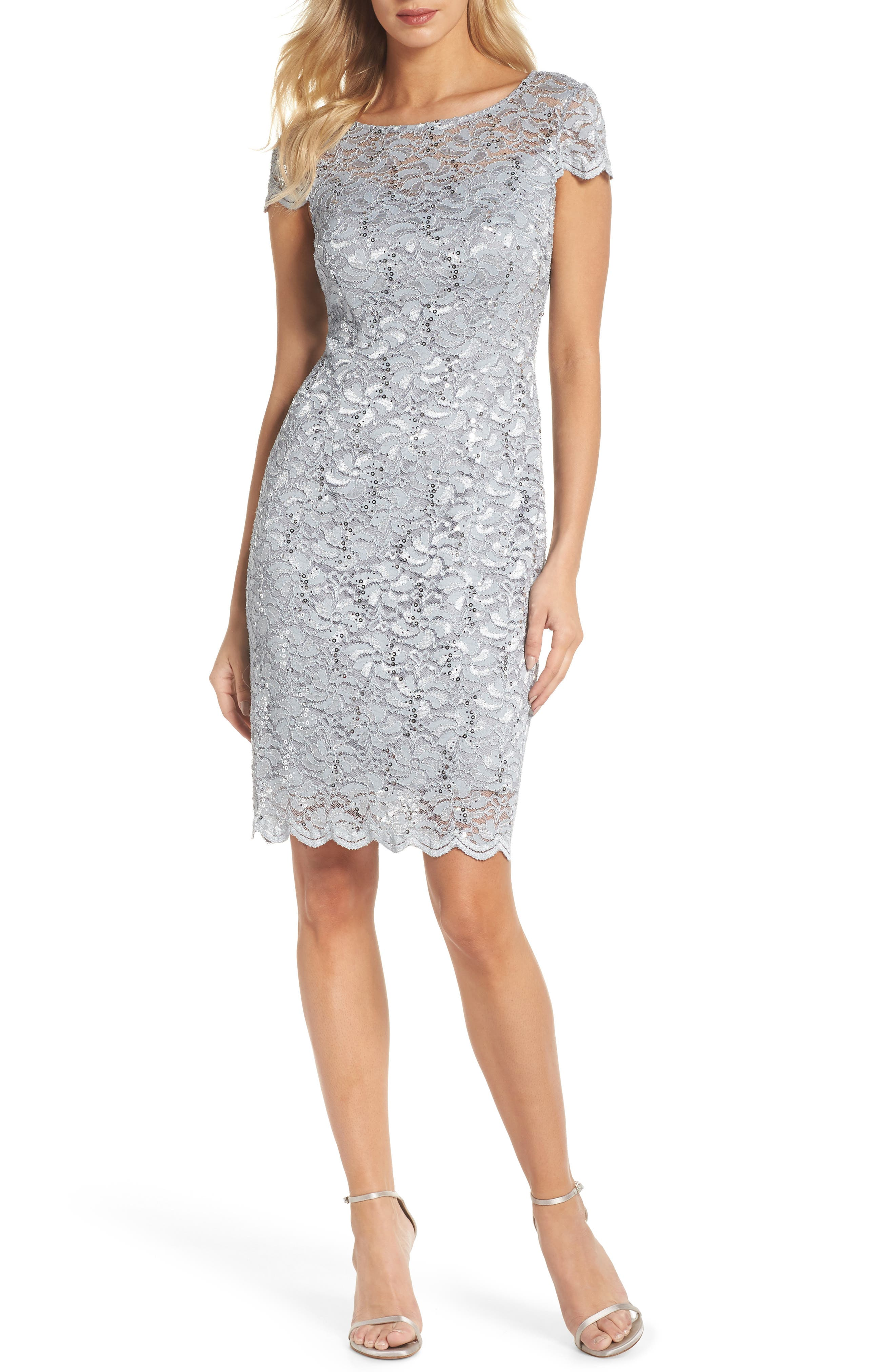 Lace Sheath Dress,                             Main thumbnail 1, color,                             050