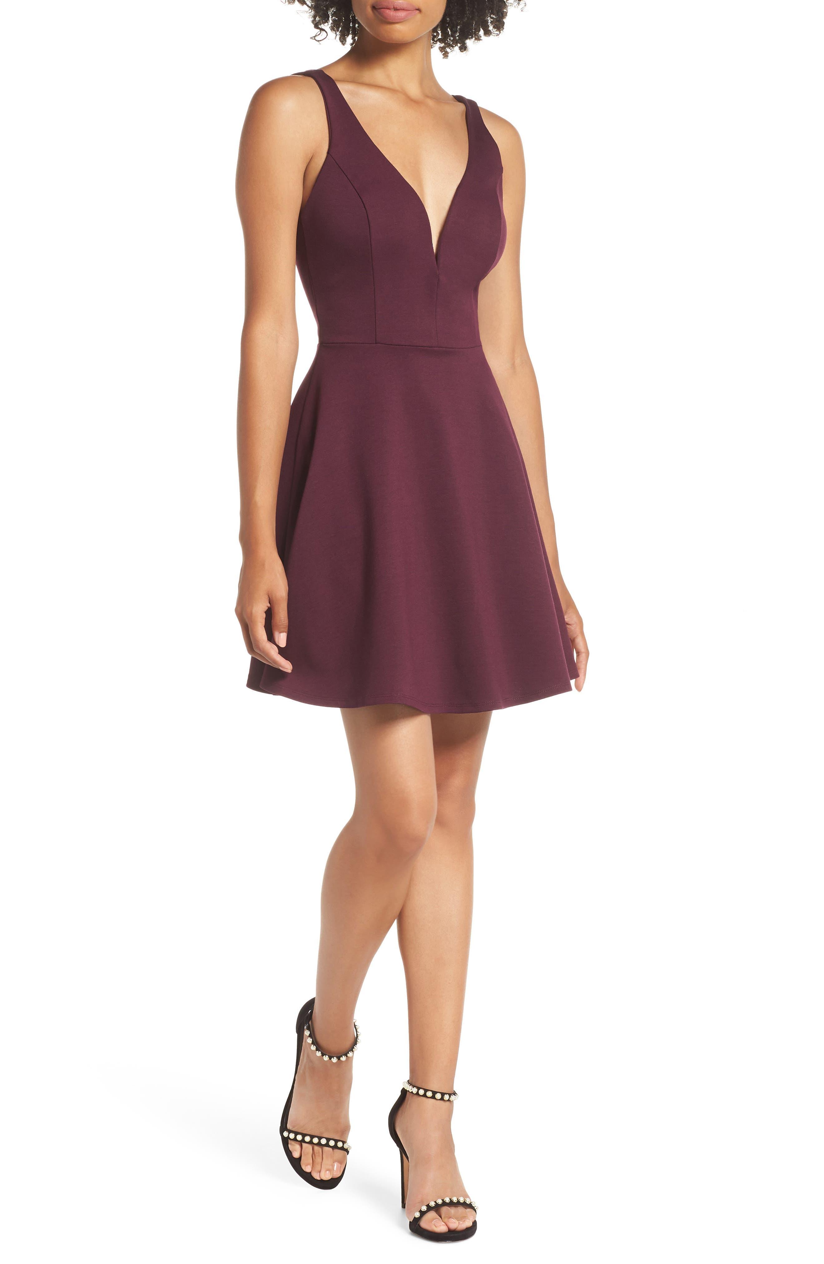 Lulus Love Galore Skater Dress, Purple