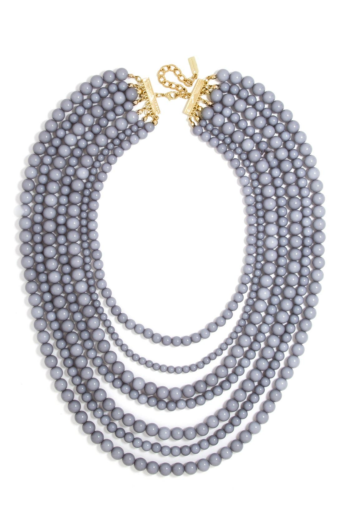 'Bold' Multistrand Beaded Statement Necklace,                             Main thumbnail 2, color,