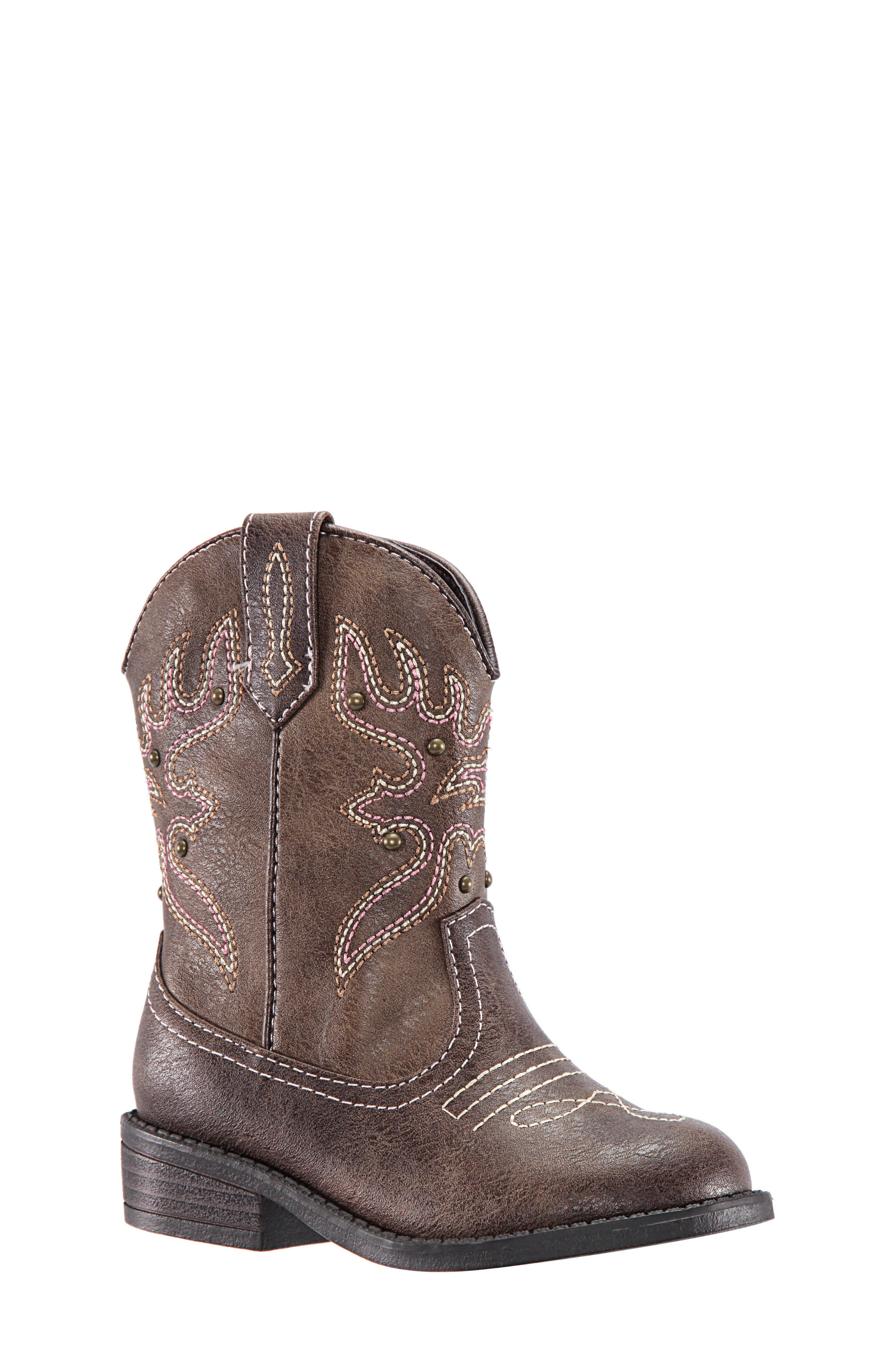Mirabele Cowboy Boot,                             Main thumbnail 1, color,                             BROWN