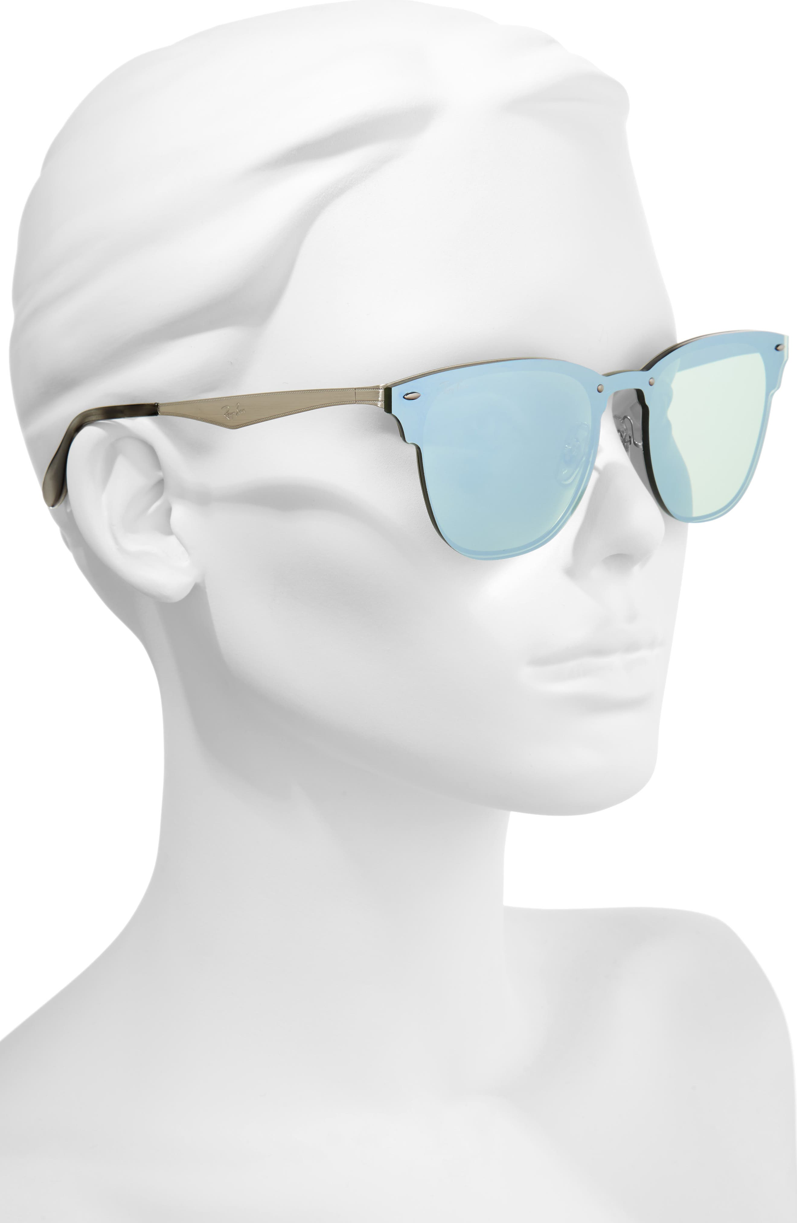 52mm Mirrored Sunglasses,                             Alternate thumbnail 2, color,                             040