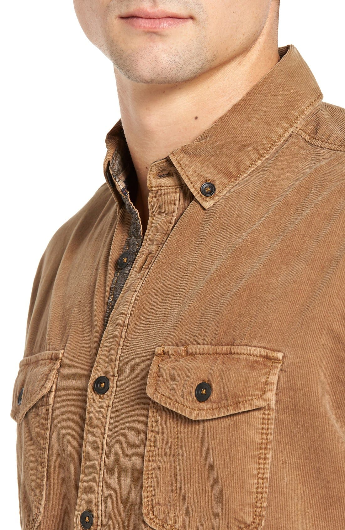 'Jaymes' Pigment Dyed Corduroy Shirt,                             Alternate thumbnail 14, color,