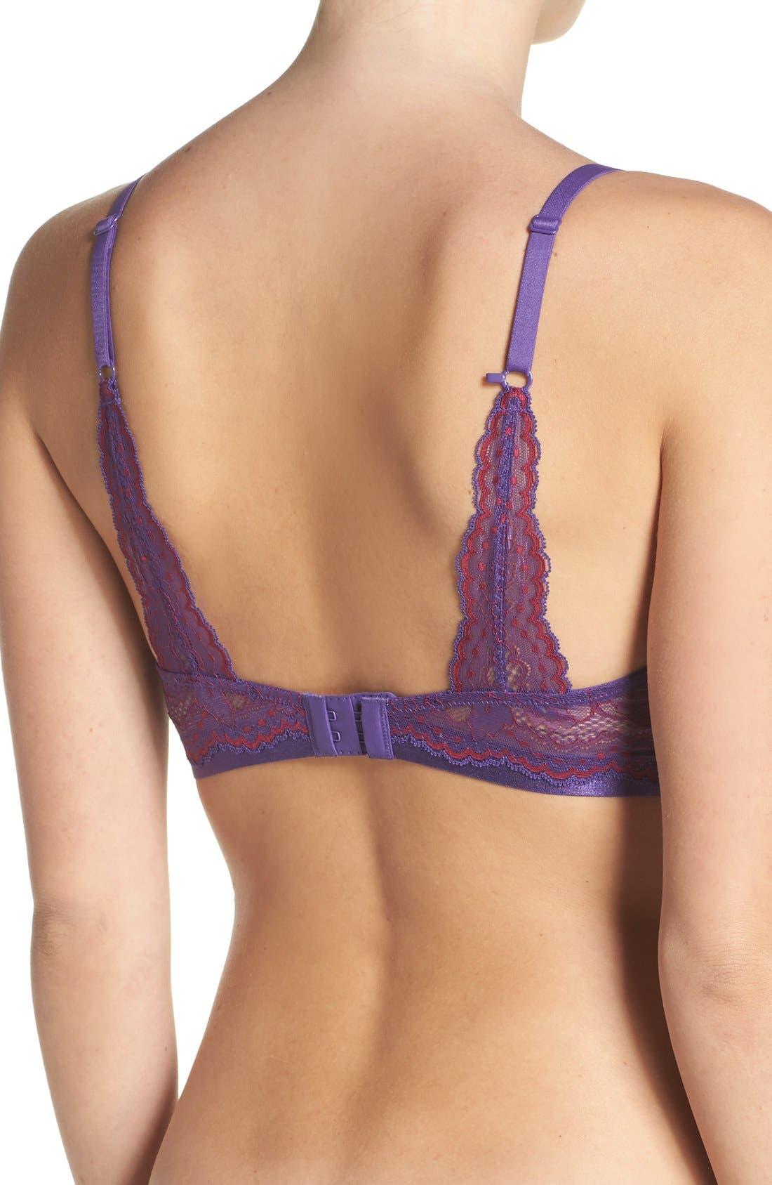 'Beautifully Basic' Lace Trim Underwire Plunge Bra,                             Alternate thumbnail 30, color,