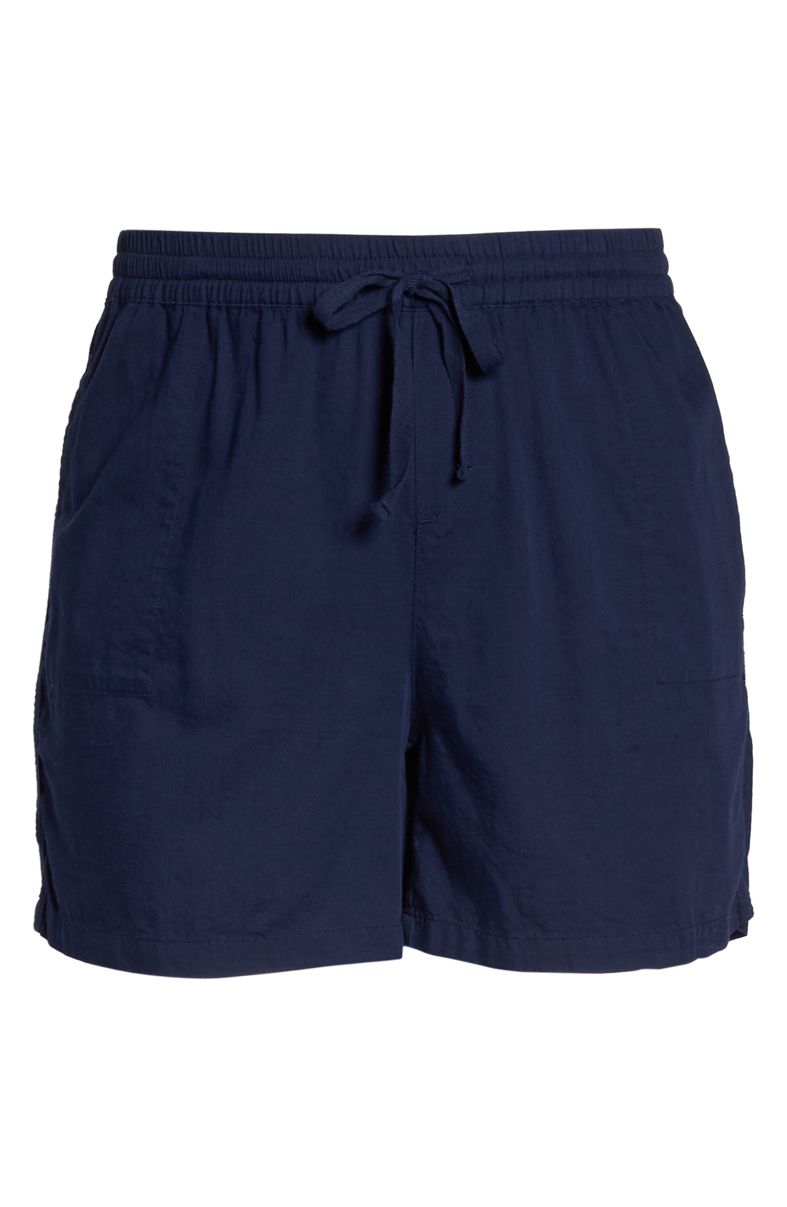 Pull-On Twill Shorts,                             Alternate thumbnail 7, color,                             NAVY PEACOAT
