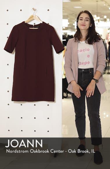 Textured Elbow Sleeve Tunic Dress, sales video thumbnail