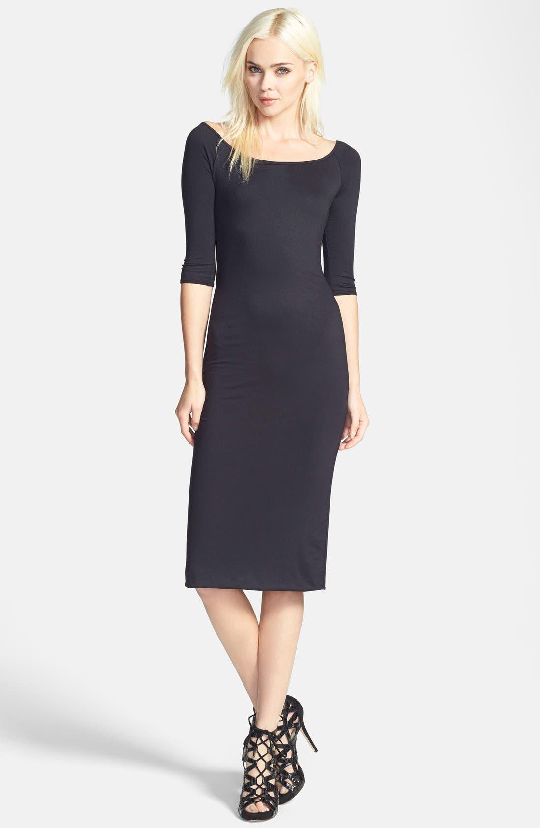 Off the Shoulder Midi Dress,                         Main,                         color,