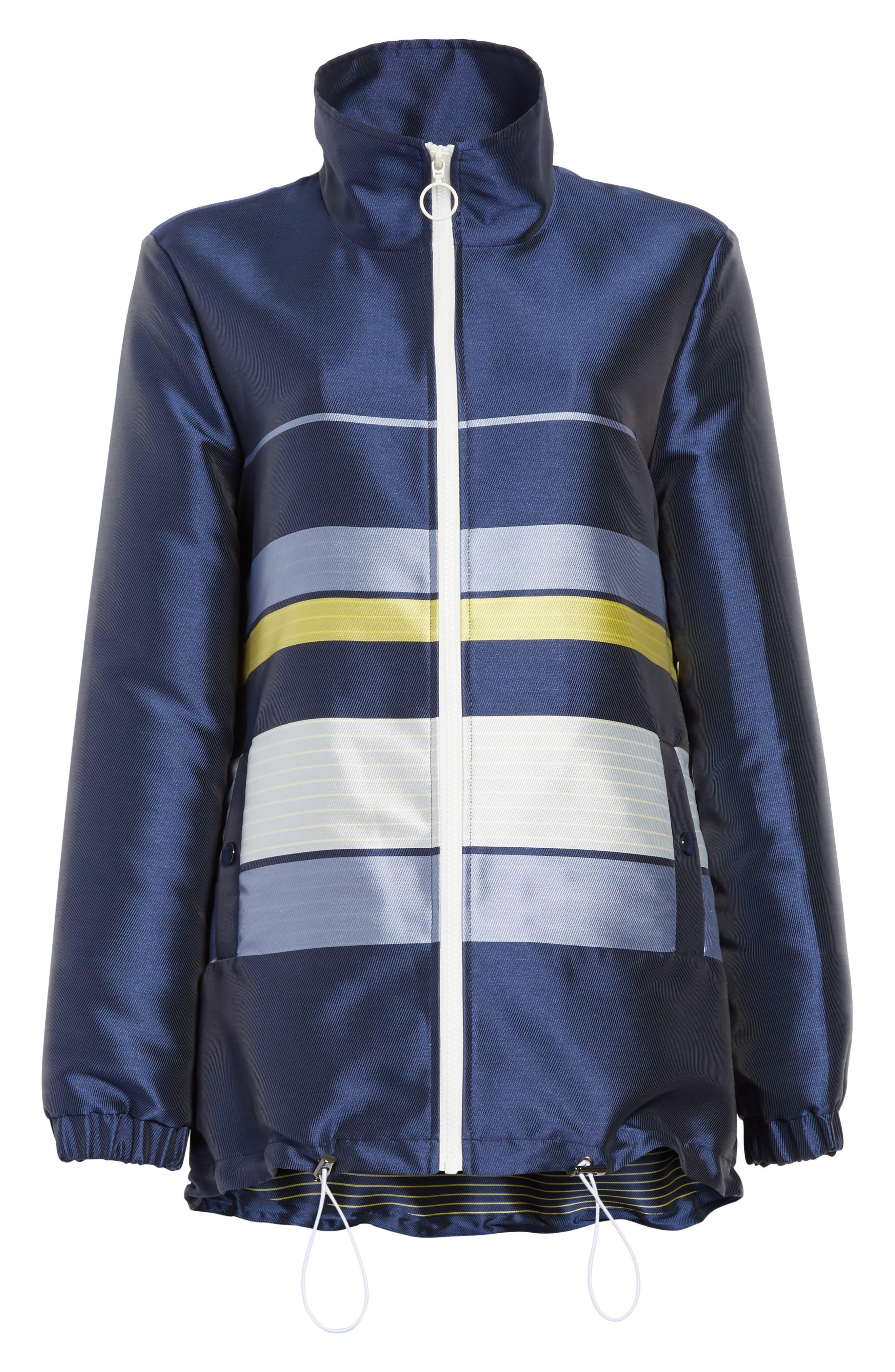 Double Face Stripe Twill Jacket,                             Alternate thumbnail 5, color,                             420