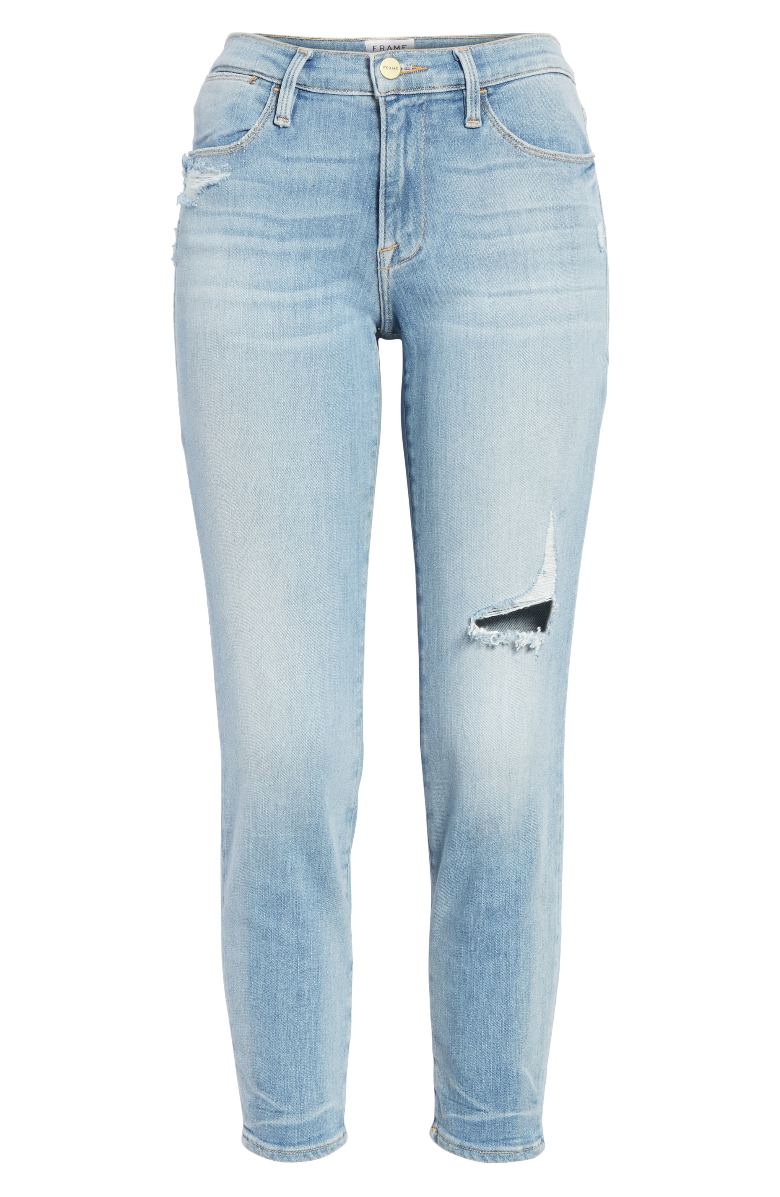 Le High Skinny Jeans,                             Alternate thumbnail 6, color,                             450