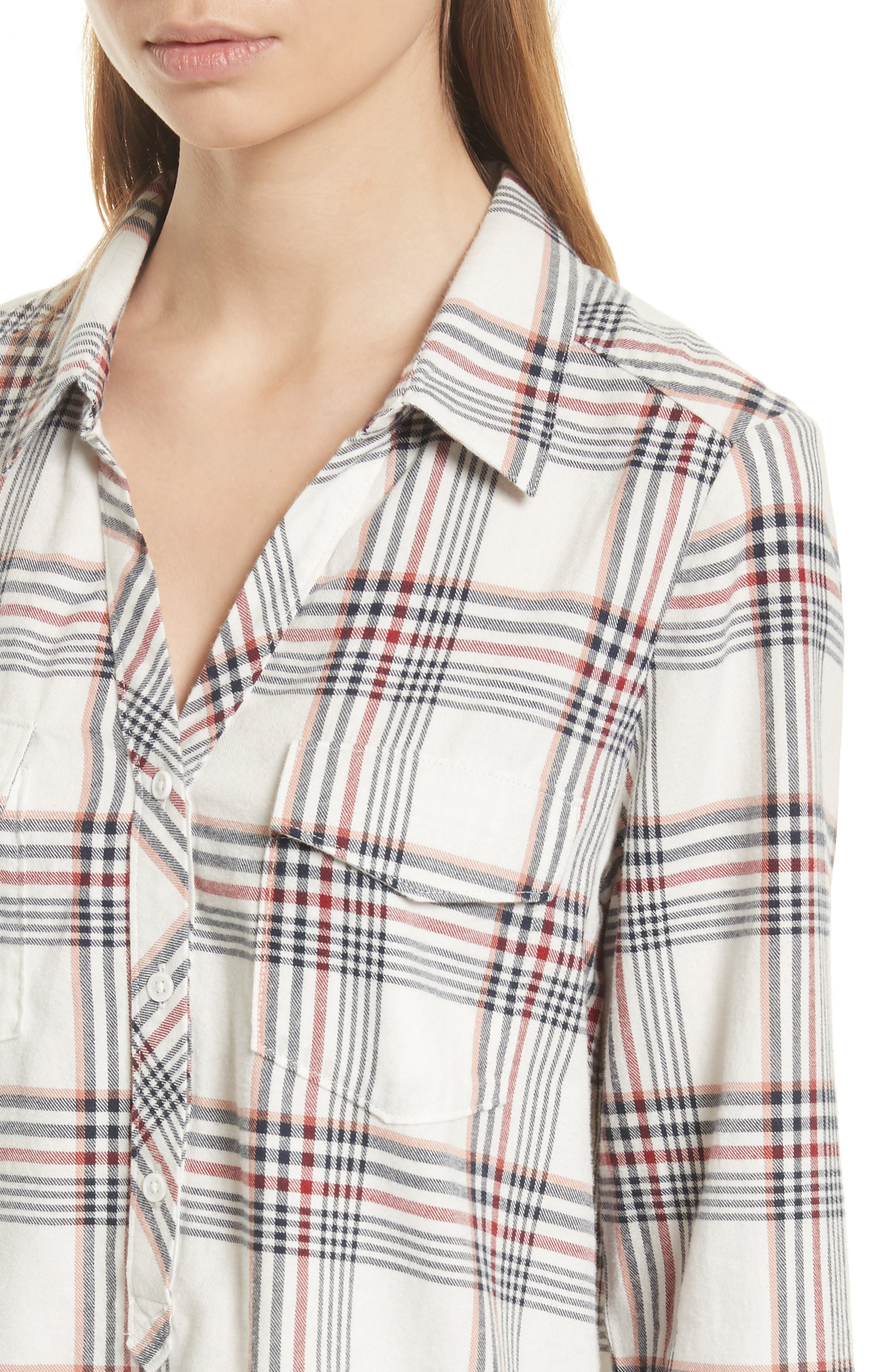 Antolina Plaid Cotton Top,                             Alternate thumbnail 4, color,