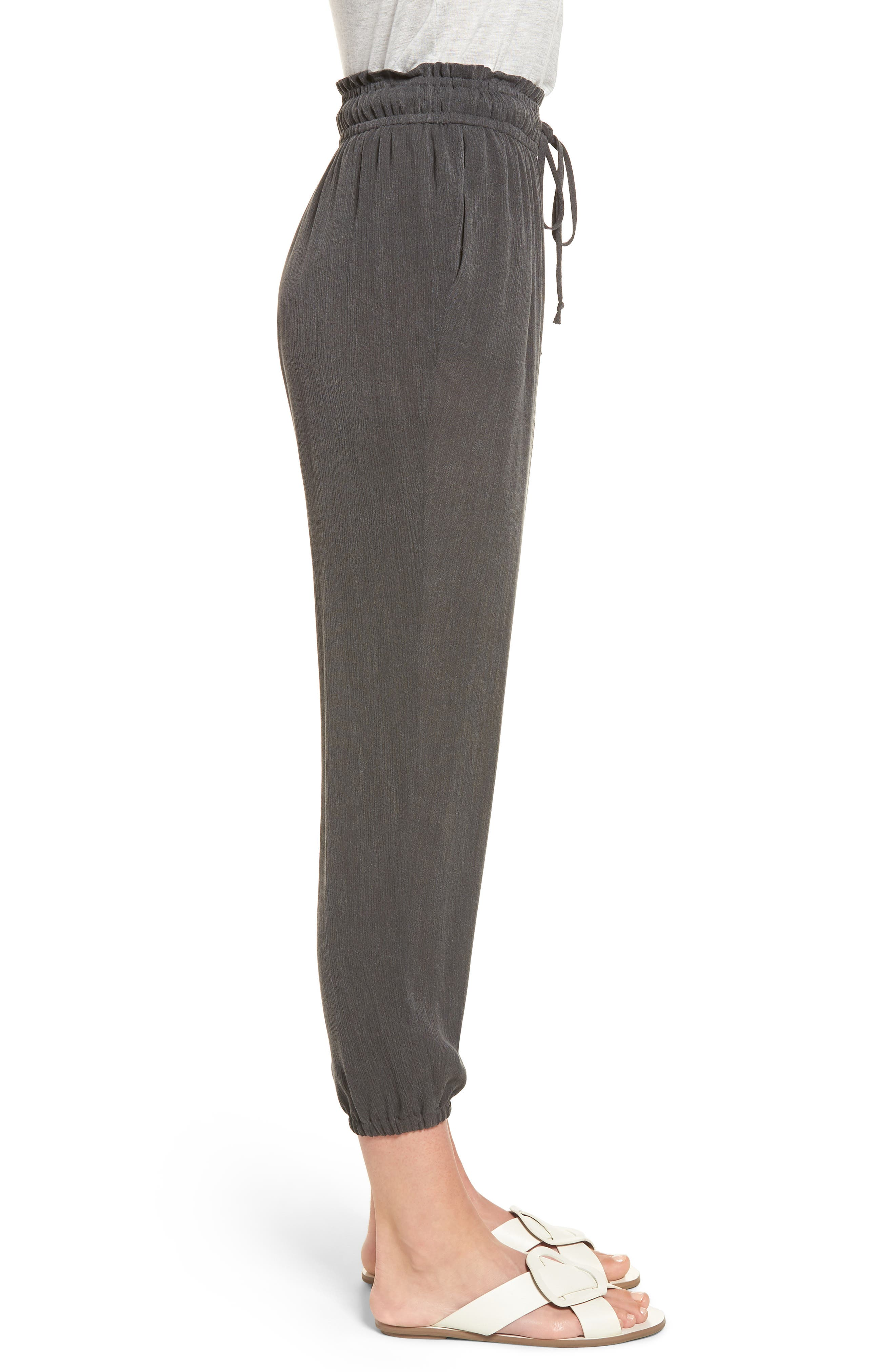 x Hi Sugarplum! Hanalei Soft Jogger Pants,                             Alternate thumbnail 3, color,                             001