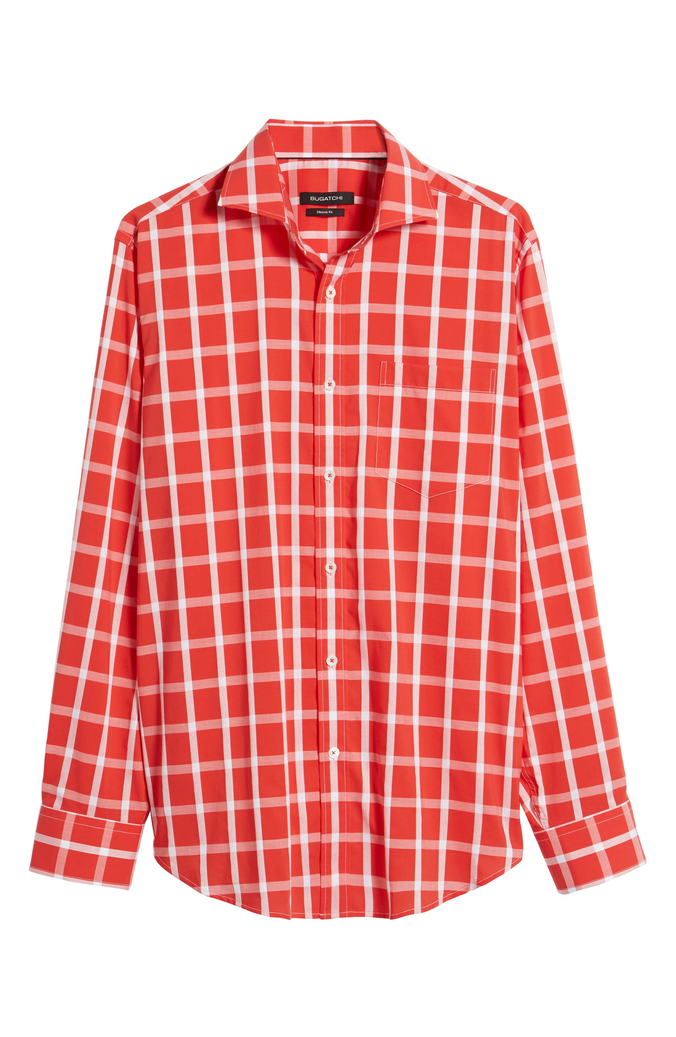 Classic Fit Windowpane Plaid Sport Shirt,                             Alternate thumbnail 6, color,                             627