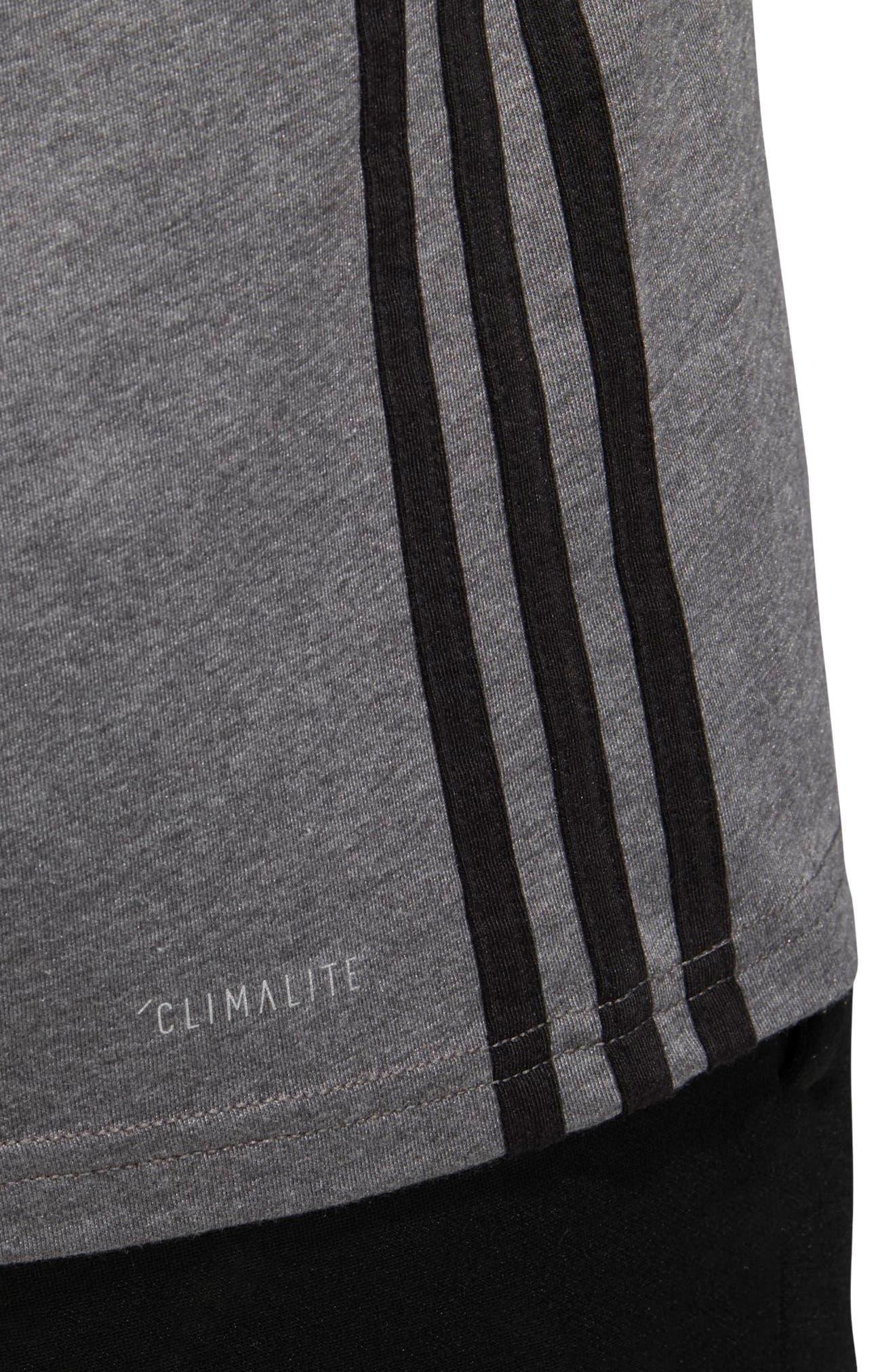 Slim Fit Three Stripe Graphic Tank,                             Alternate thumbnail 4, color,
