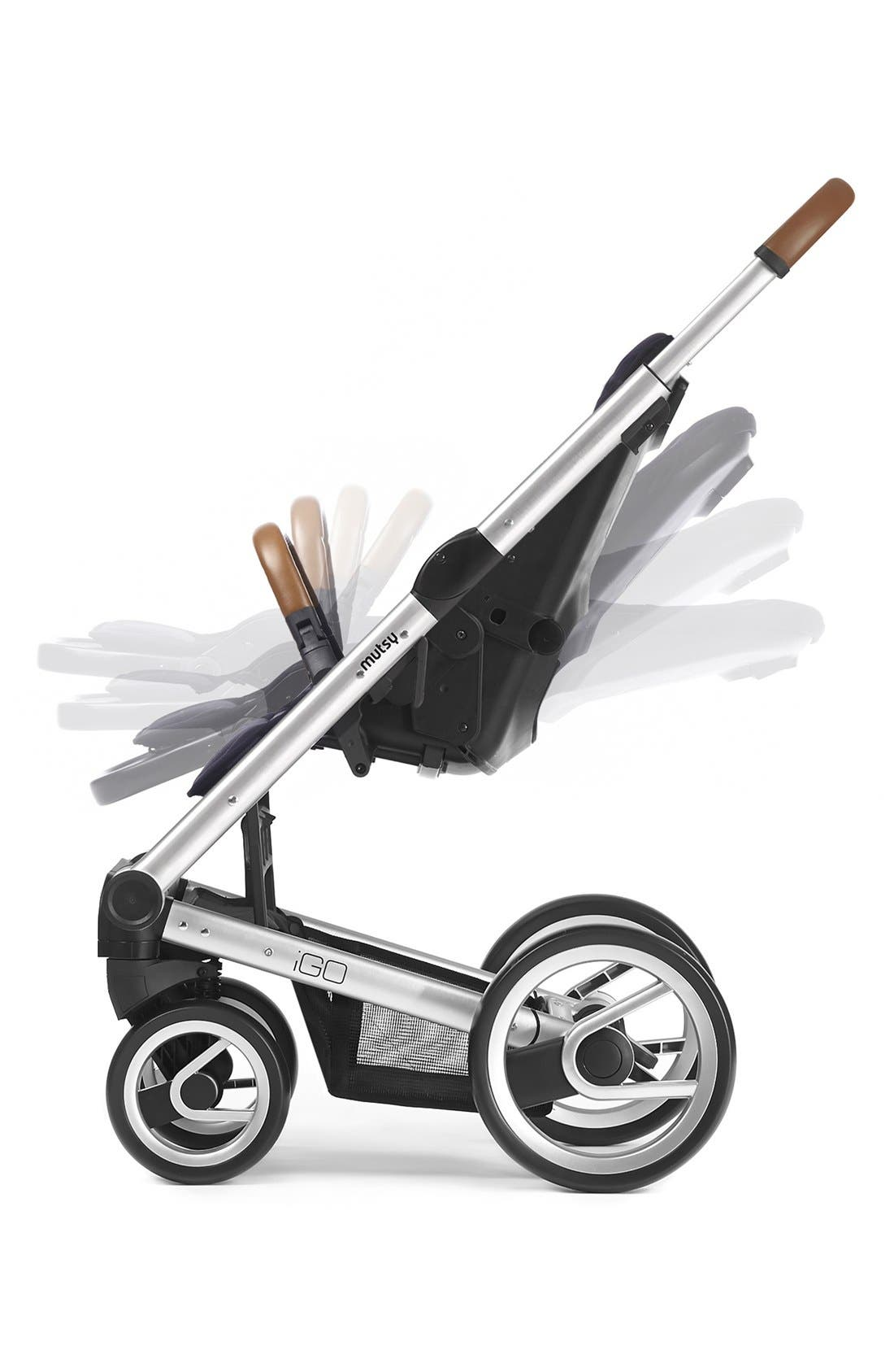 Igo - Urban Nomad Stroller,                             Alternate thumbnail 3, color,                             BLACK/ WHITE/ BLUE