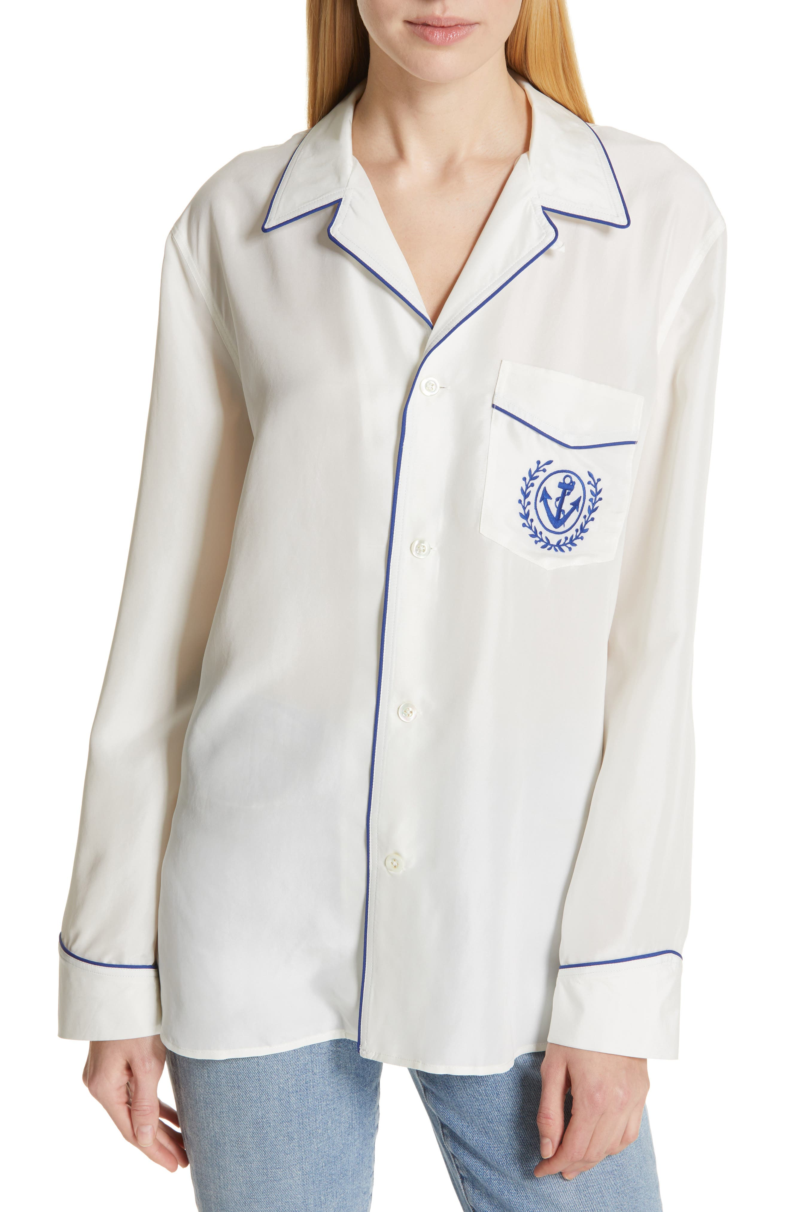73099a99fe Polo Ralph Lauren Silk Pajama Style Shirt