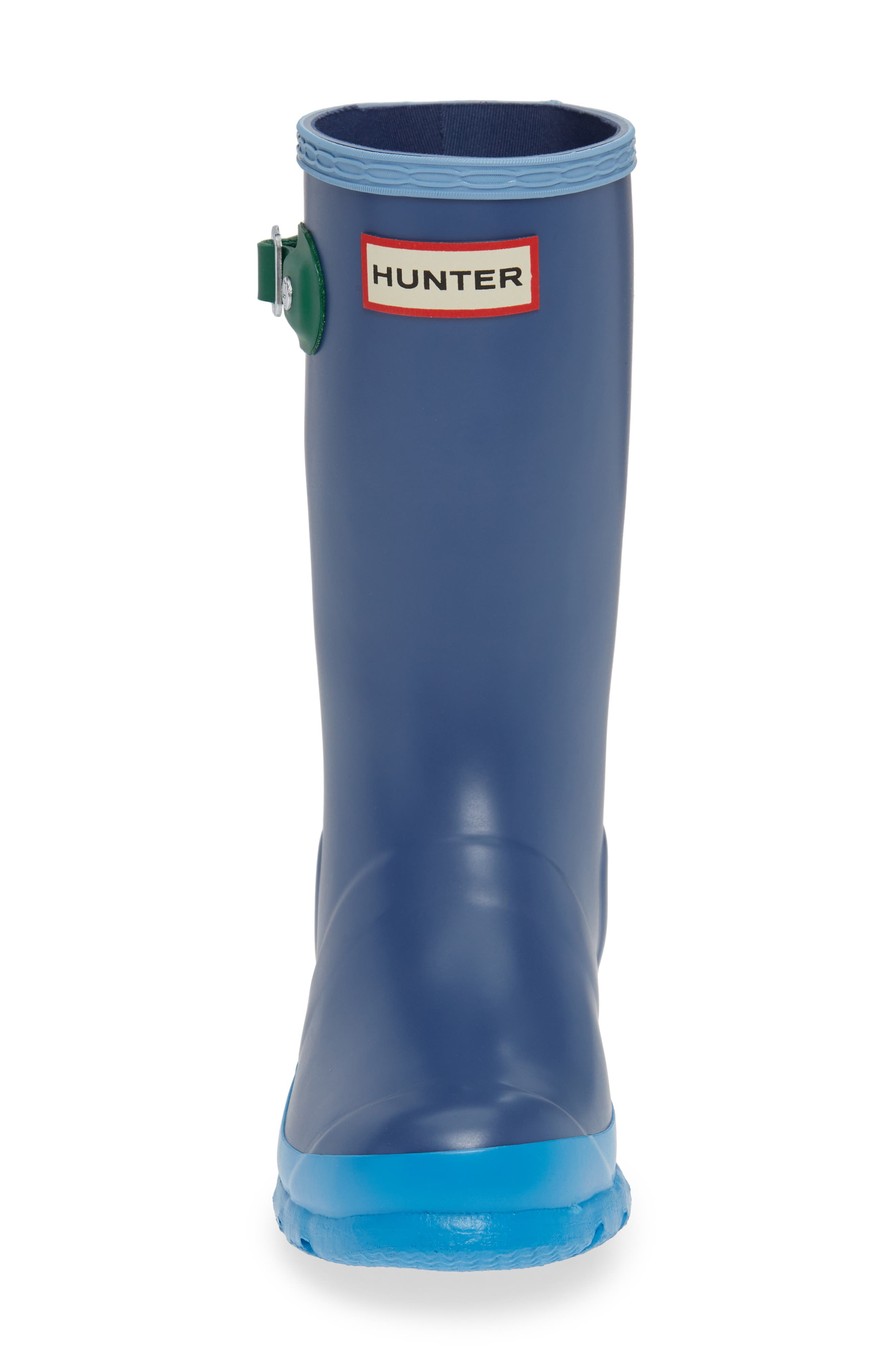 Original Colorblock Rain Boot,                             Alternate thumbnail 4, color,                             PEAK BLUE COLORBLOCK