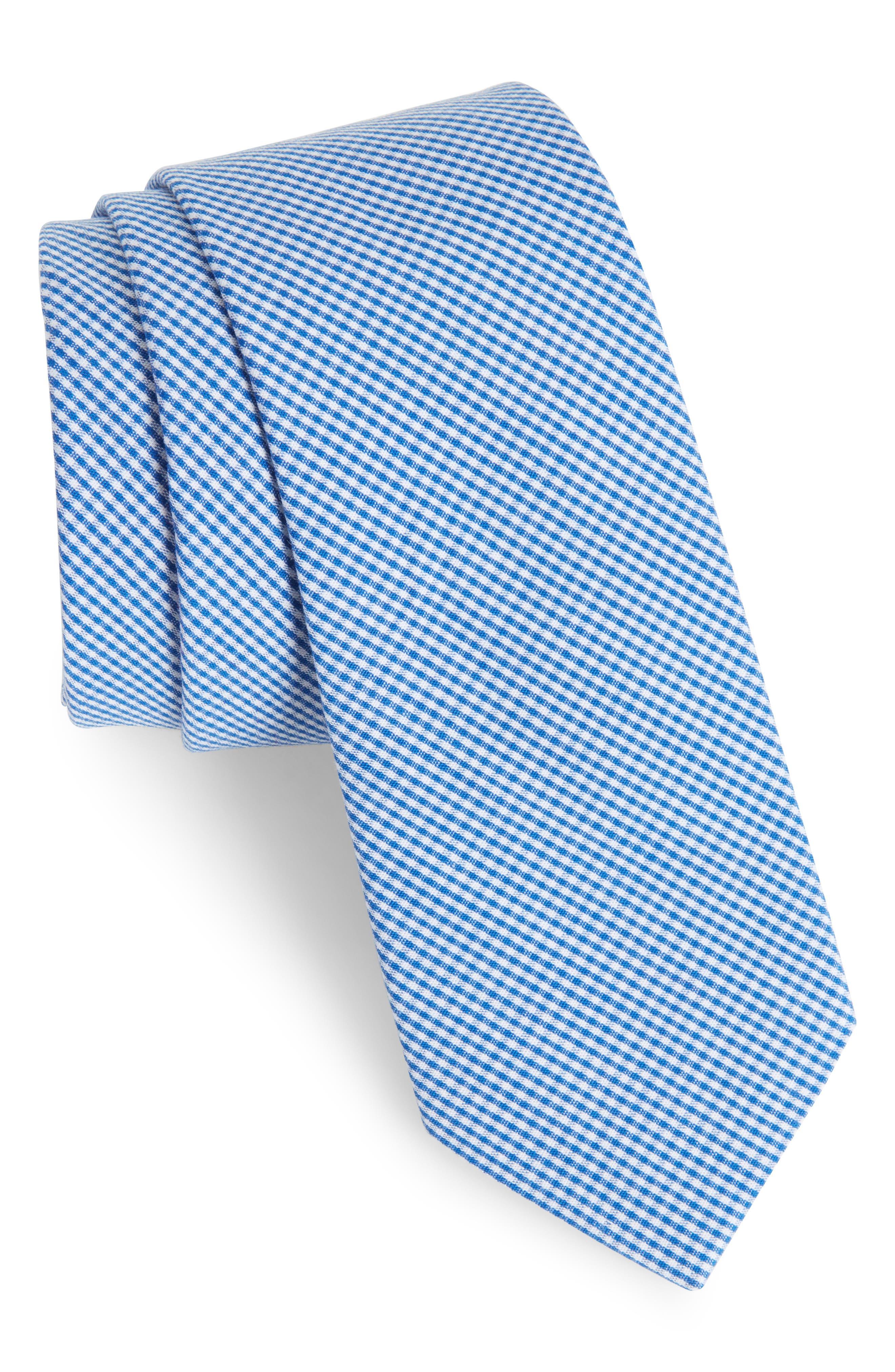 Check Cotton Tie,                             Main thumbnail 4, color,
