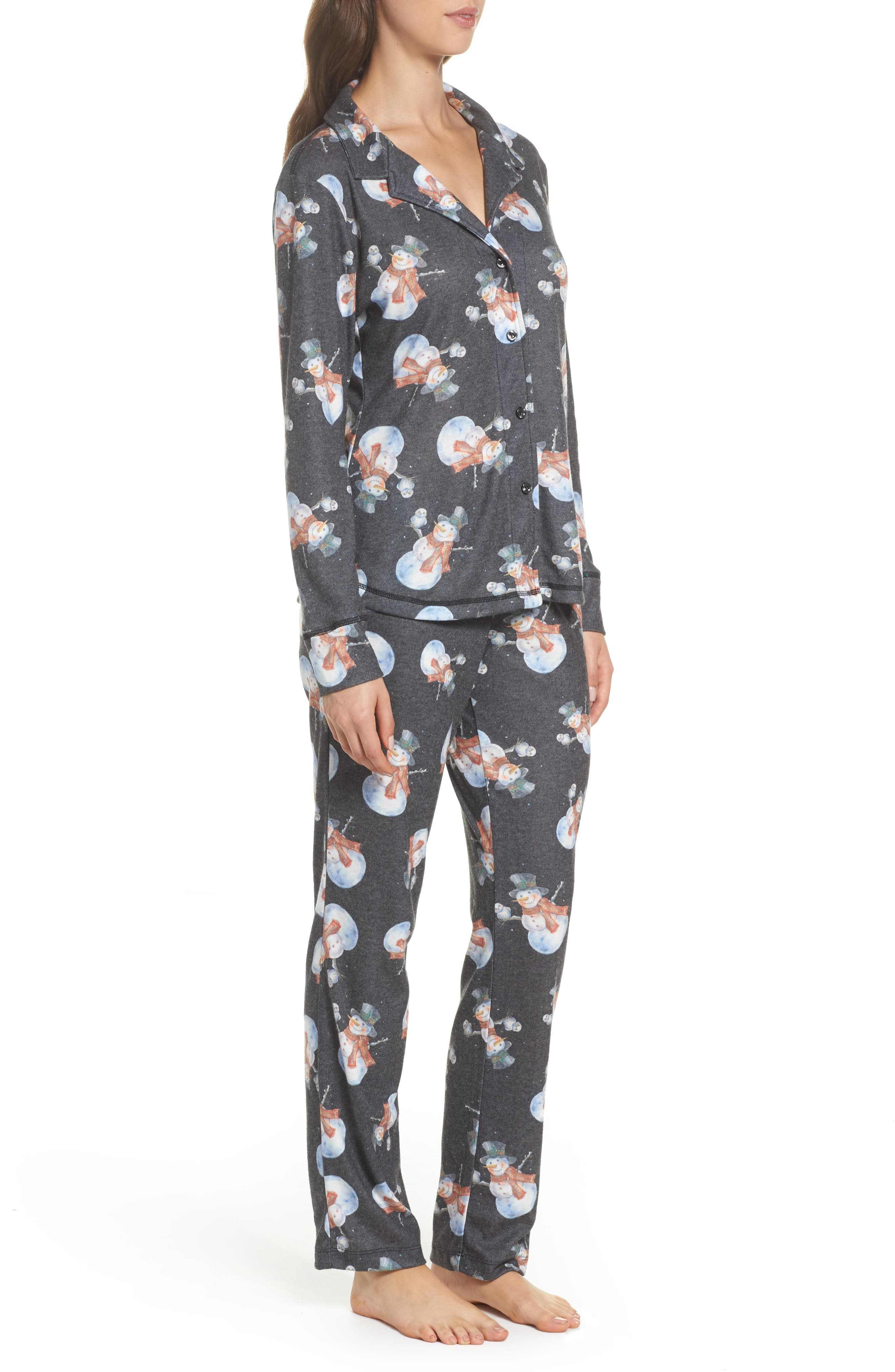 Clara Flannel Pajamas,                             Alternate thumbnail 3, color,                             001