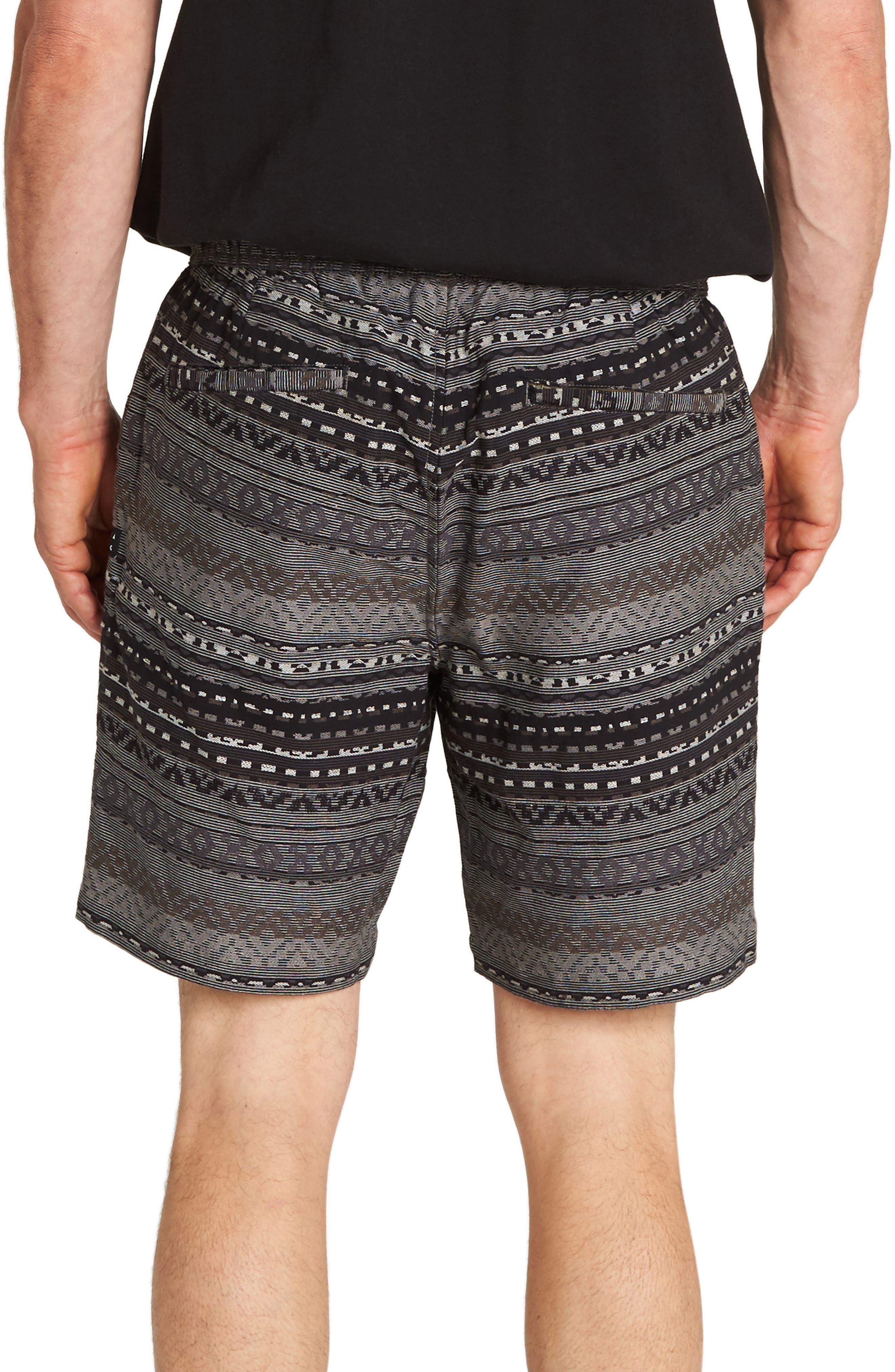 Larry Layback Jacquard Shorts,                             Alternate thumbnail 2, color,                             BLACK