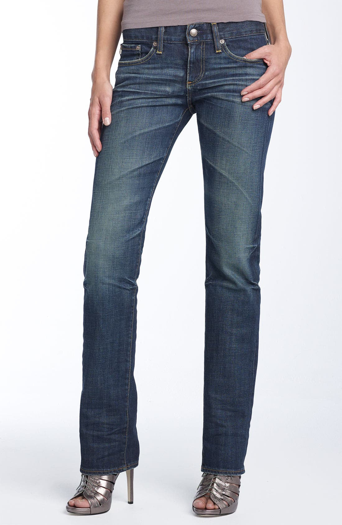 'The Tomboy' Relaxed Straight Leg Jeans,                             Alternate thumbnail 7, color,