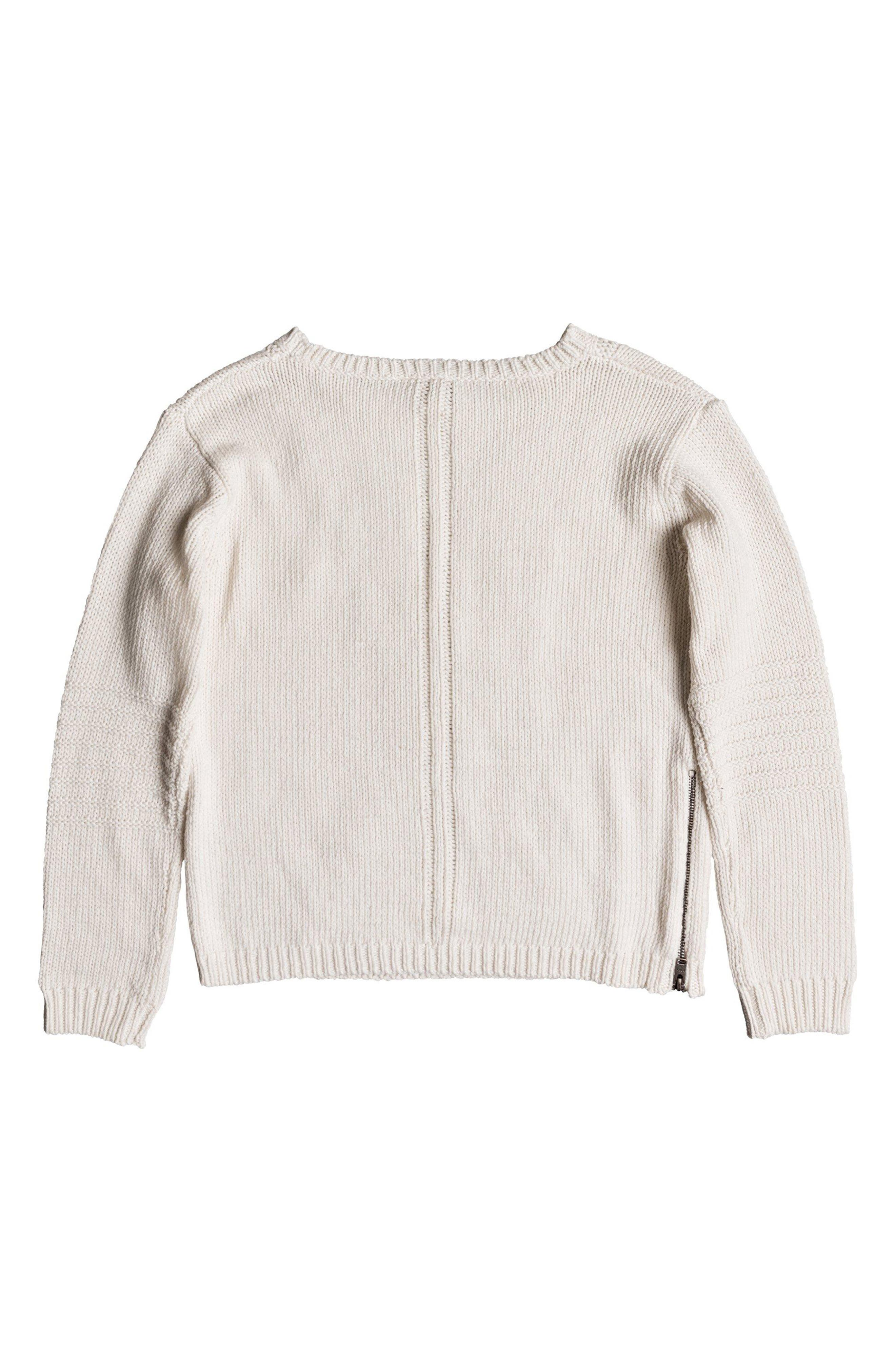 Glimpse of Romance Cable Knit Sweater,                             Alternate thumbnail 5, color,                             MARSHMALLOW
